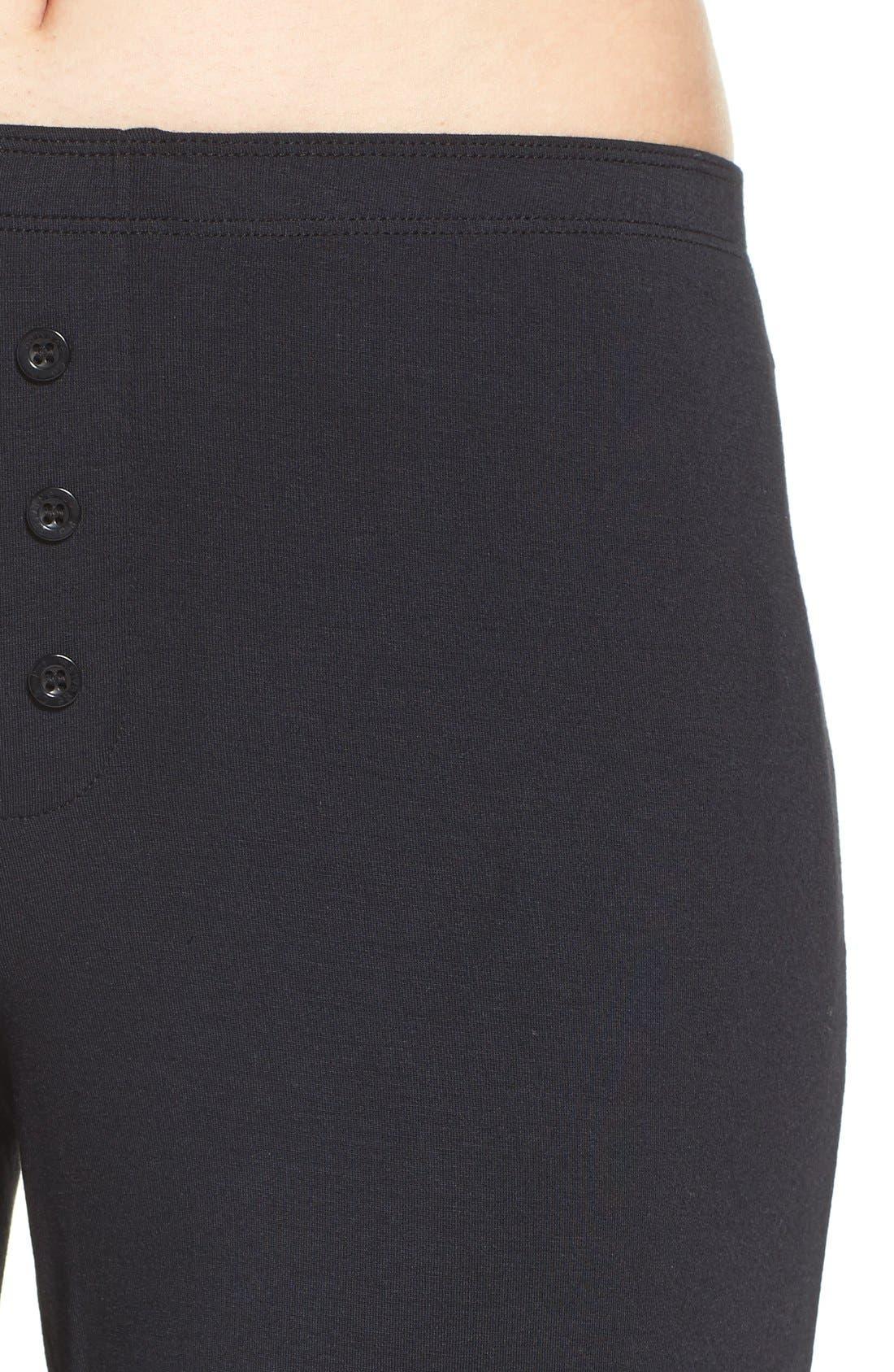Jersey Pajama Pants,                             Alternate thumbnail 5, color,                             BLACK