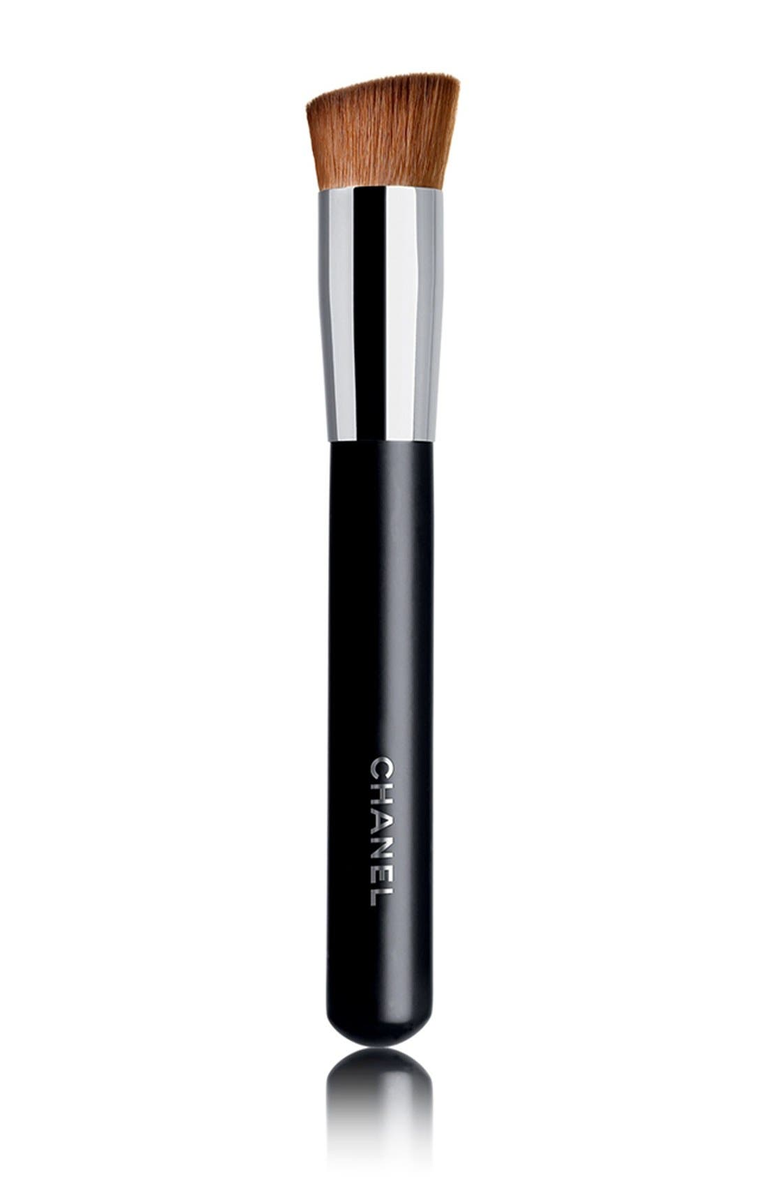 PINCEAU TEINT<br />2-in-1 Foundation Brush Fluid and Powder,                             Main thumbnail 1, color,                             000