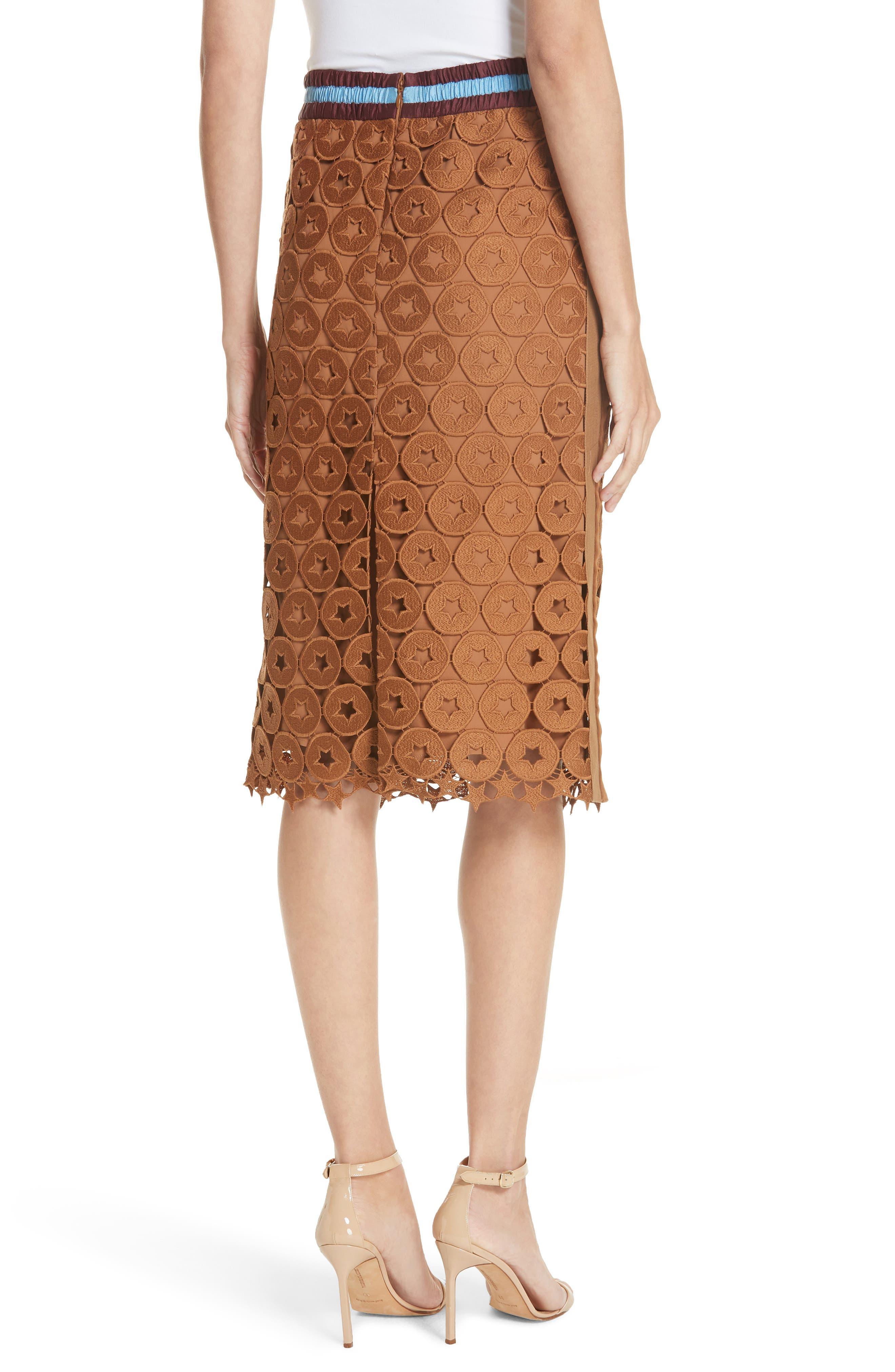 N°21,                             Lace Skirt,                             Alternate thumbnail 2, color,                             200