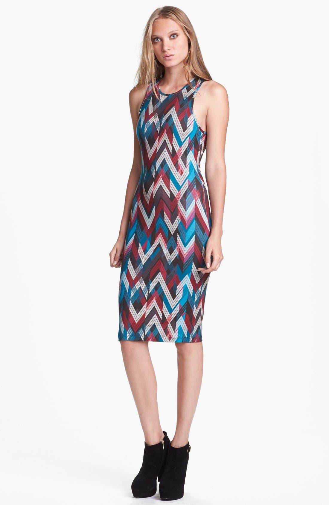 WAYF Print Body-Con Tank Dress, Main, color, 001