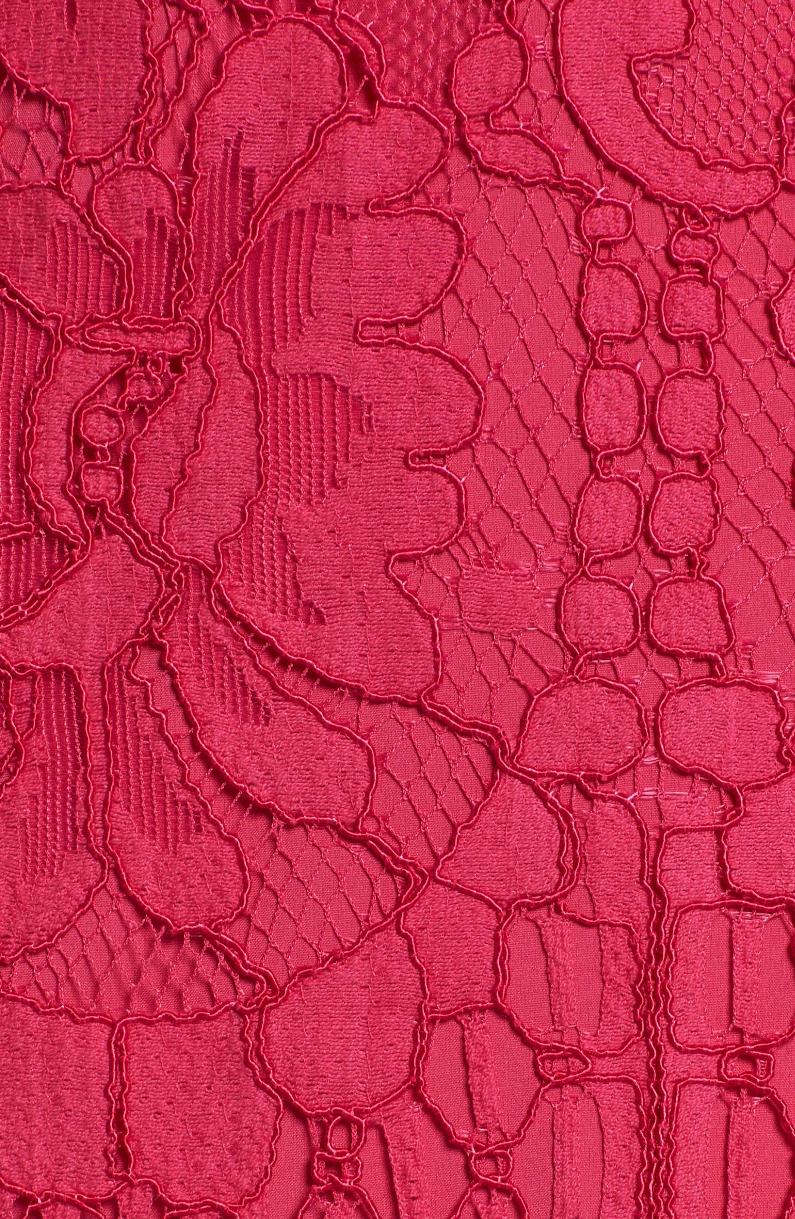 Venice Off the Shoulder Lace Minidress,                             Alternate thumbnail 23, color,