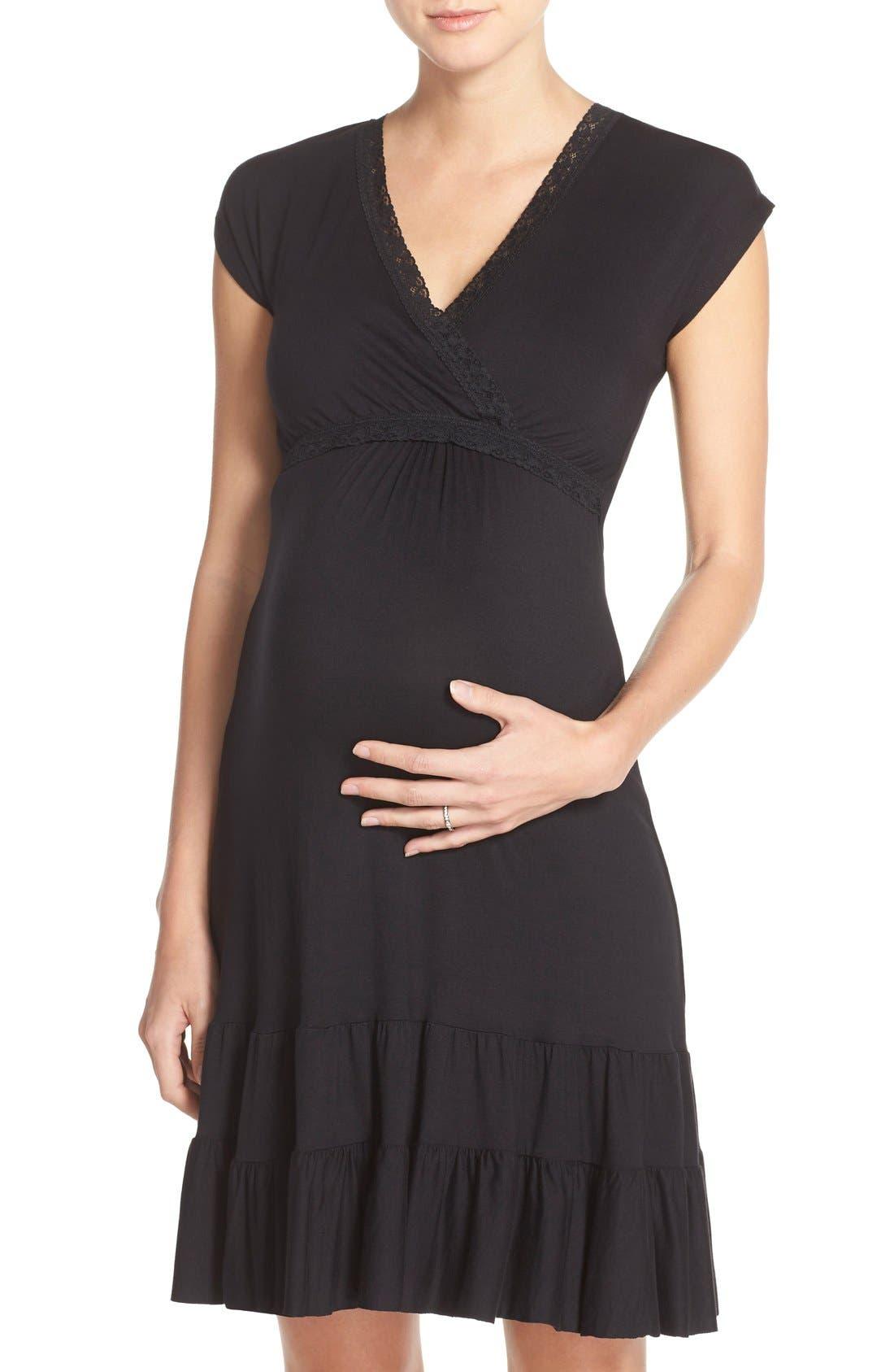 Ruffle Nursing Dress,                         Main,                         color,