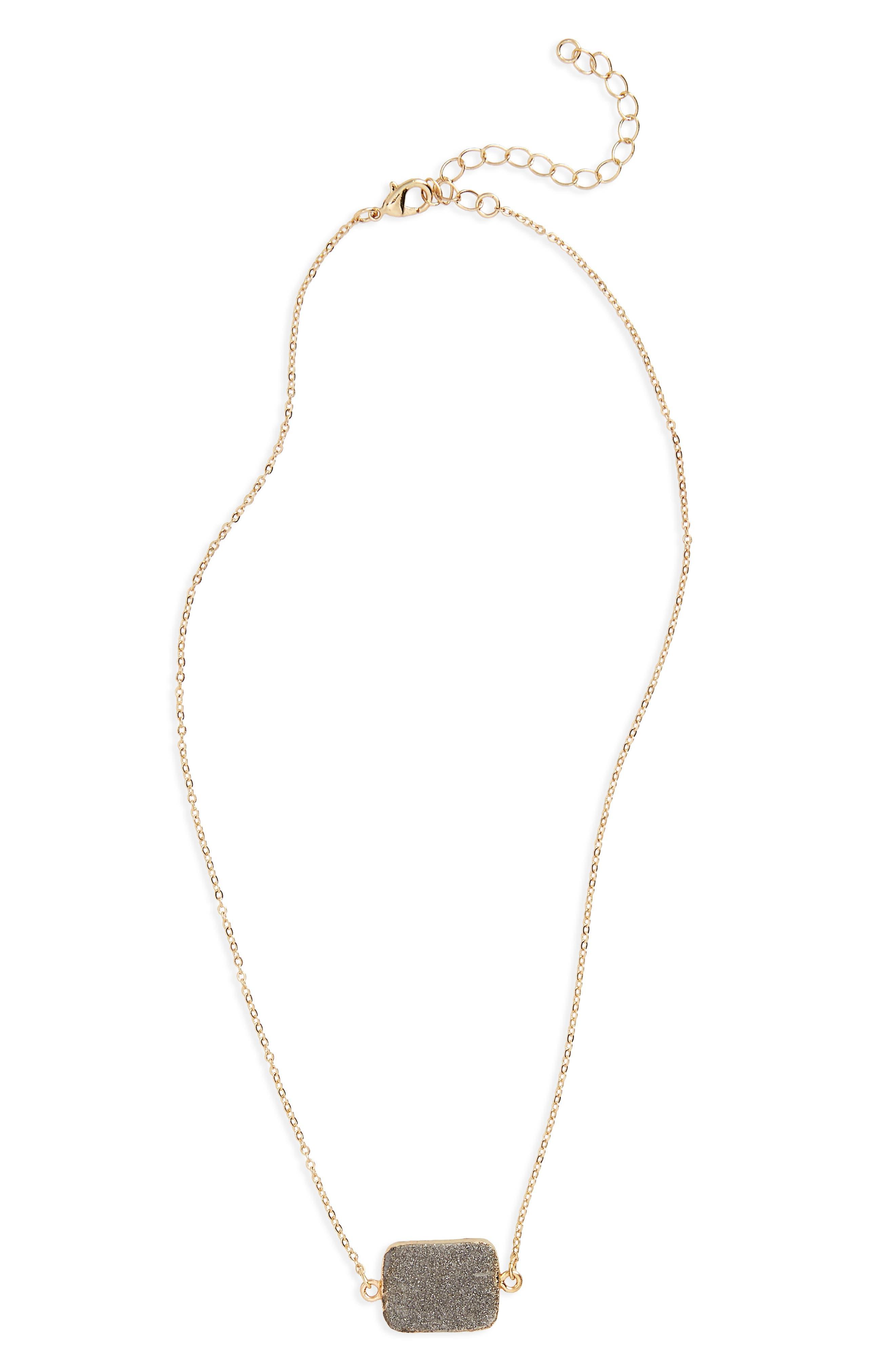Drusy Pendant Necklace,                             Main thumbnail 1, color,                             710