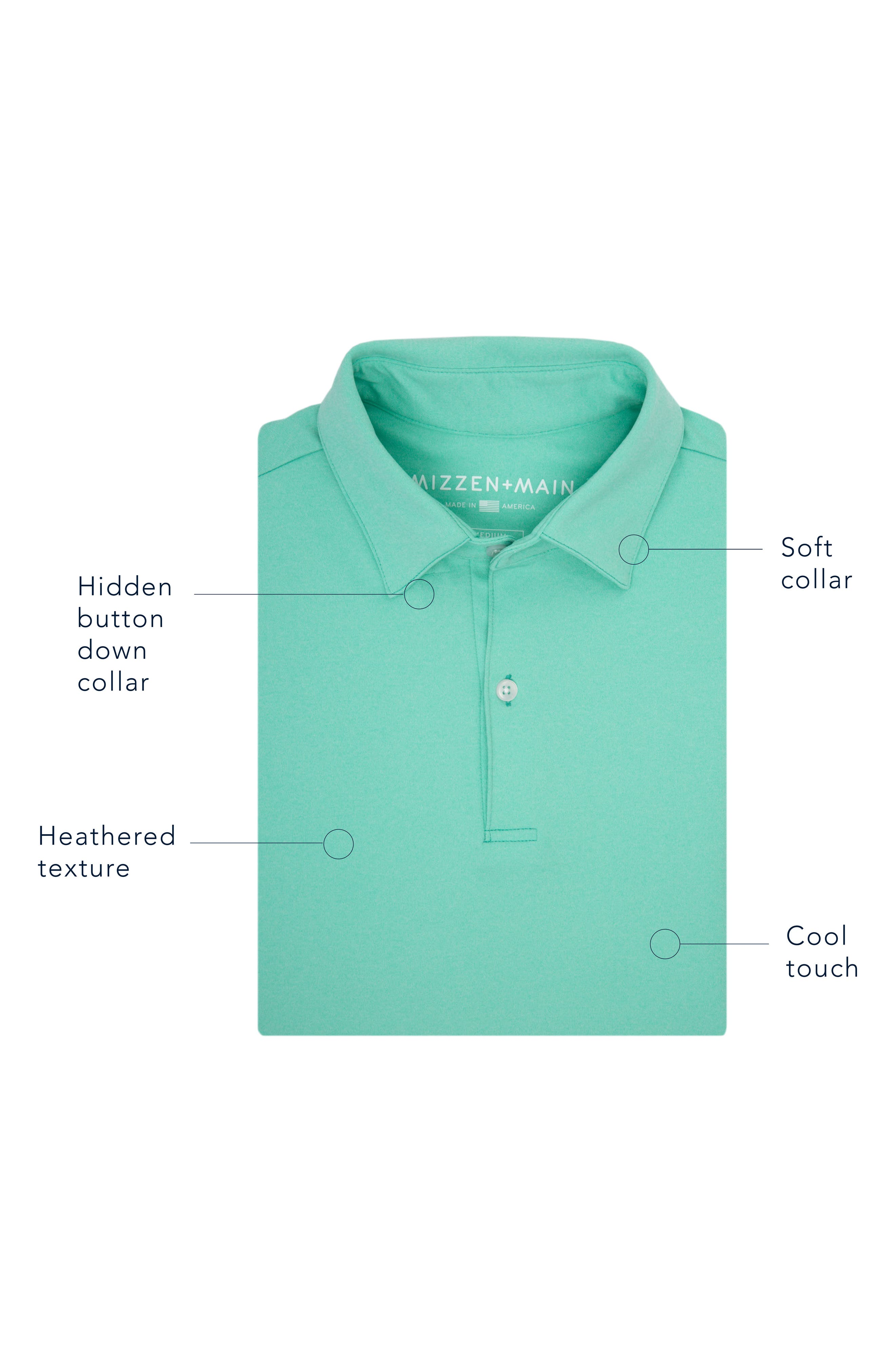 Slim Fit Active Polo,                             Alternate thumbnail 8, color,                             HACKETT BLUE