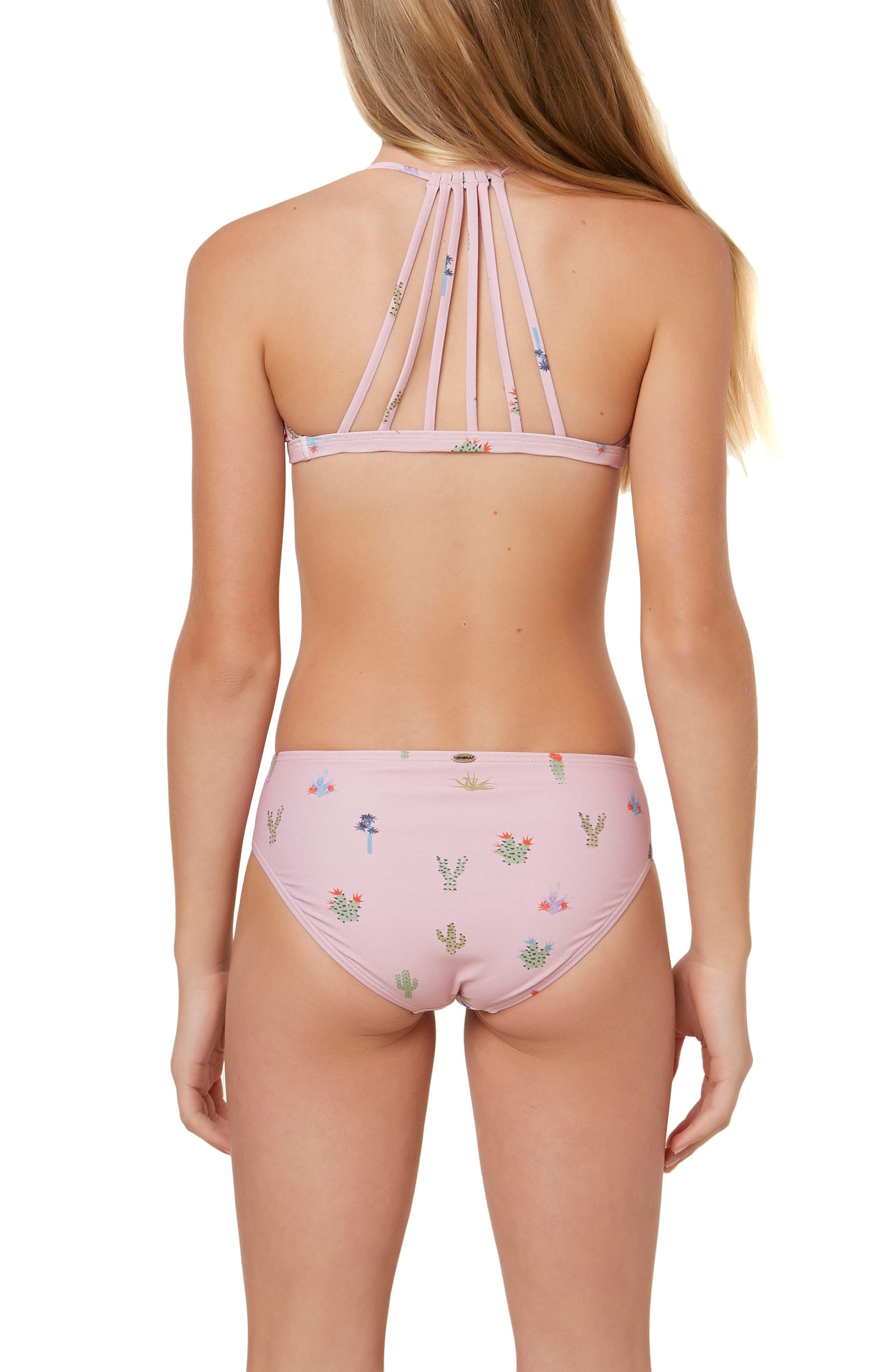 Cacti Two-Piece Swimsuit,                             Alternate thumbnail 3, color,                             CACTI