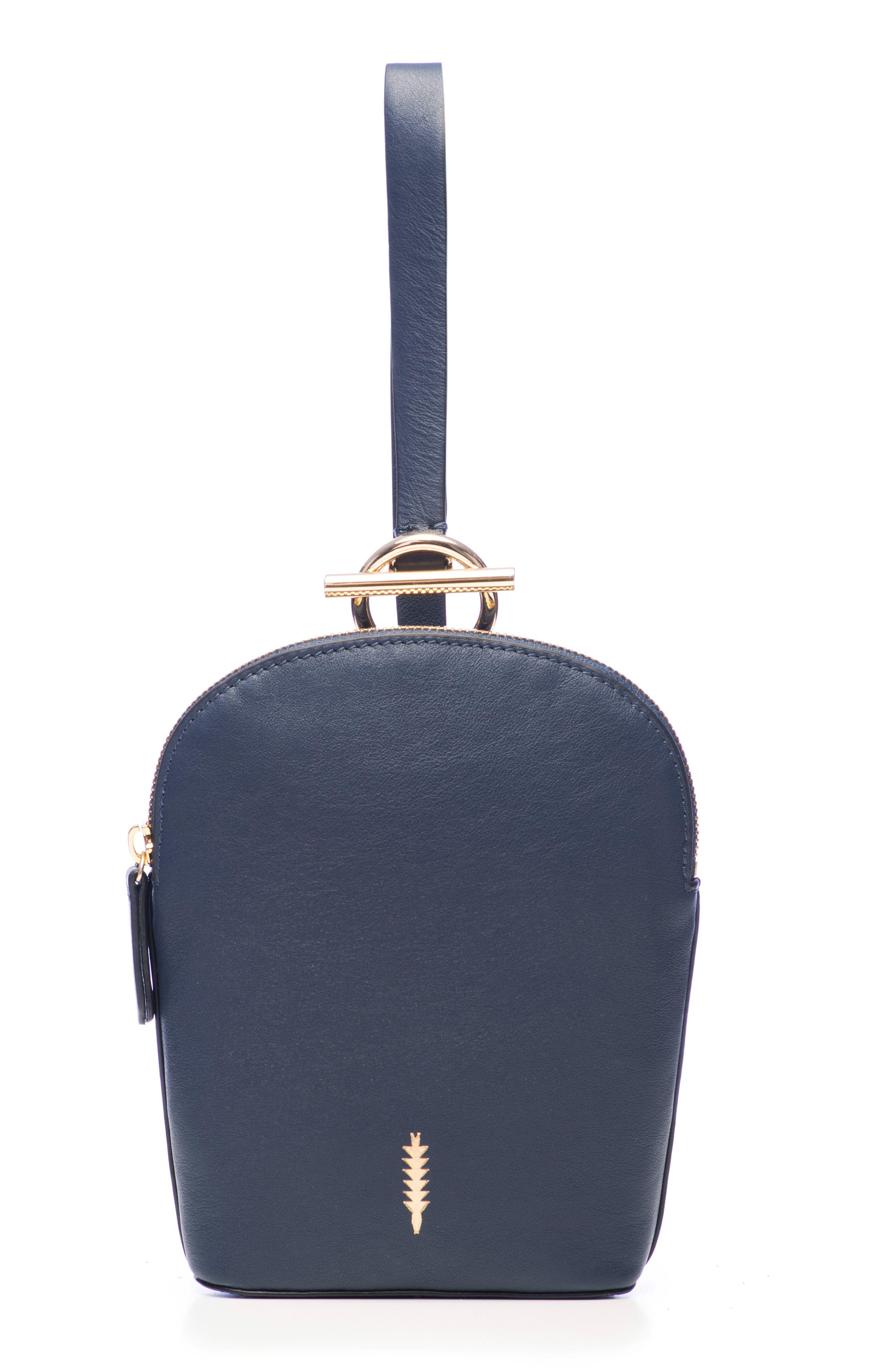 Thacker Ava Leather Wristlet - Blue
