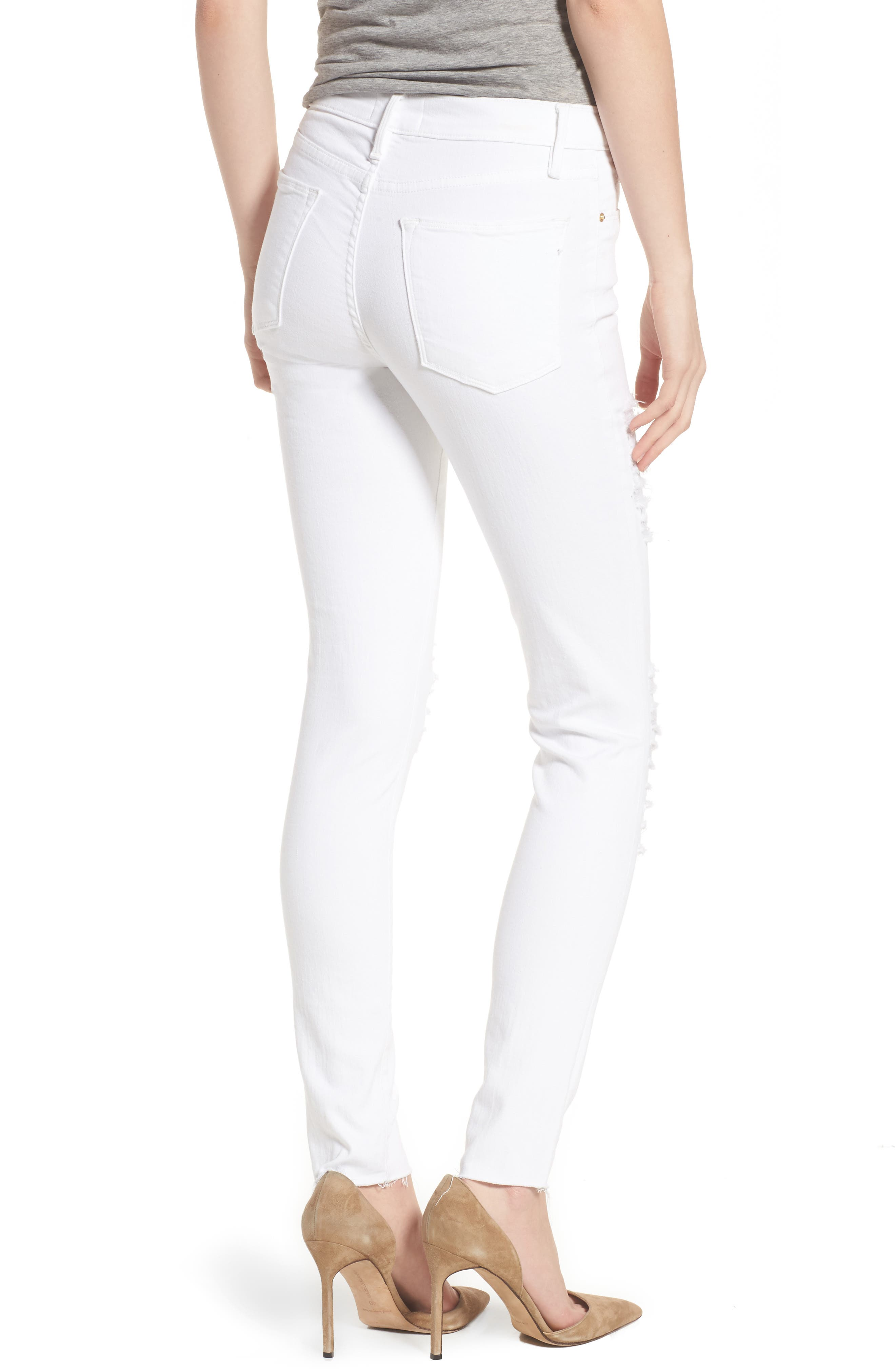 Le Color High Waist Skinny Jeans,                             Alternate thumbnail 4, color,