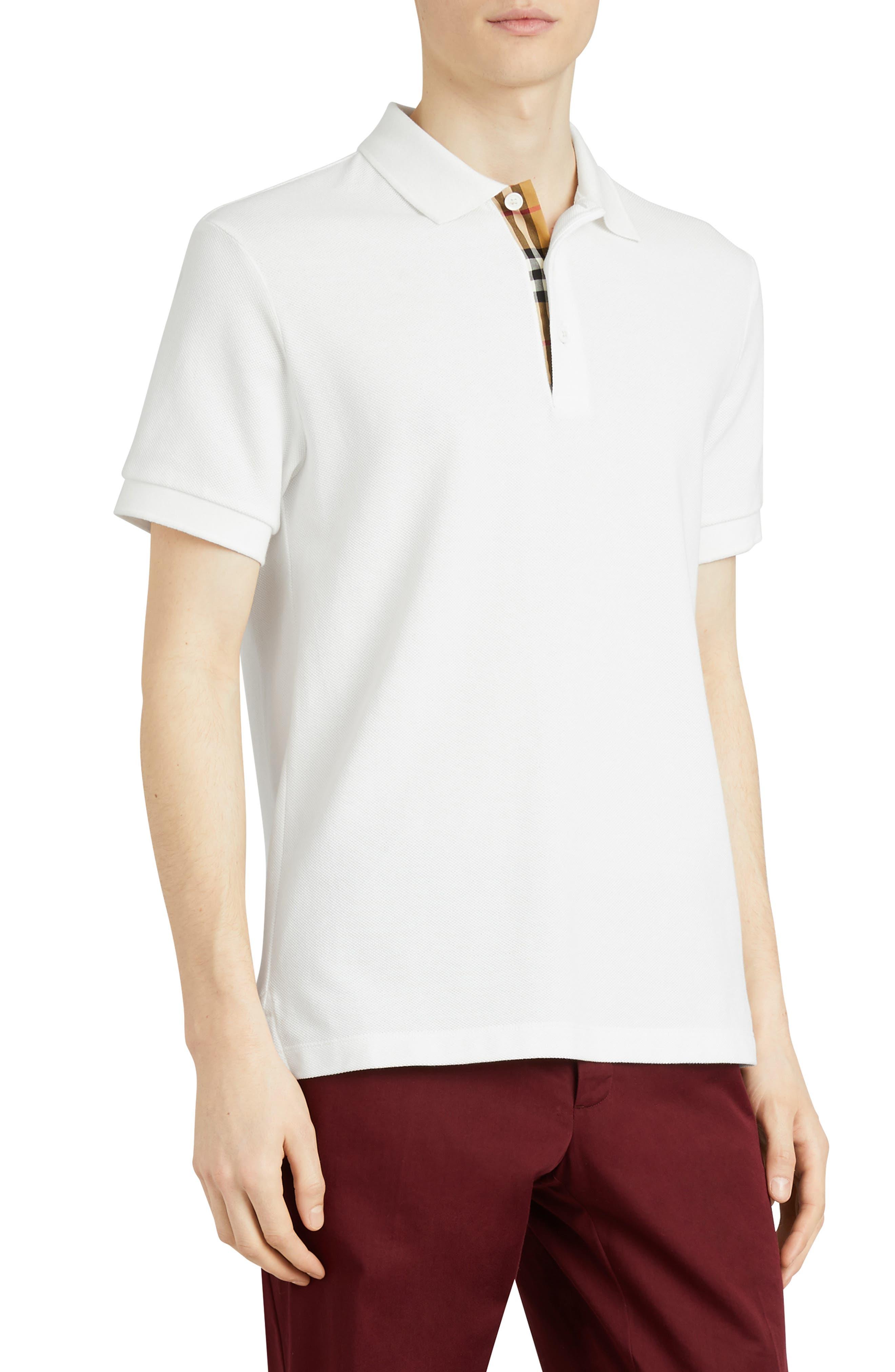 Hartford Piqué Polo,                         Main,                         color, WHITE