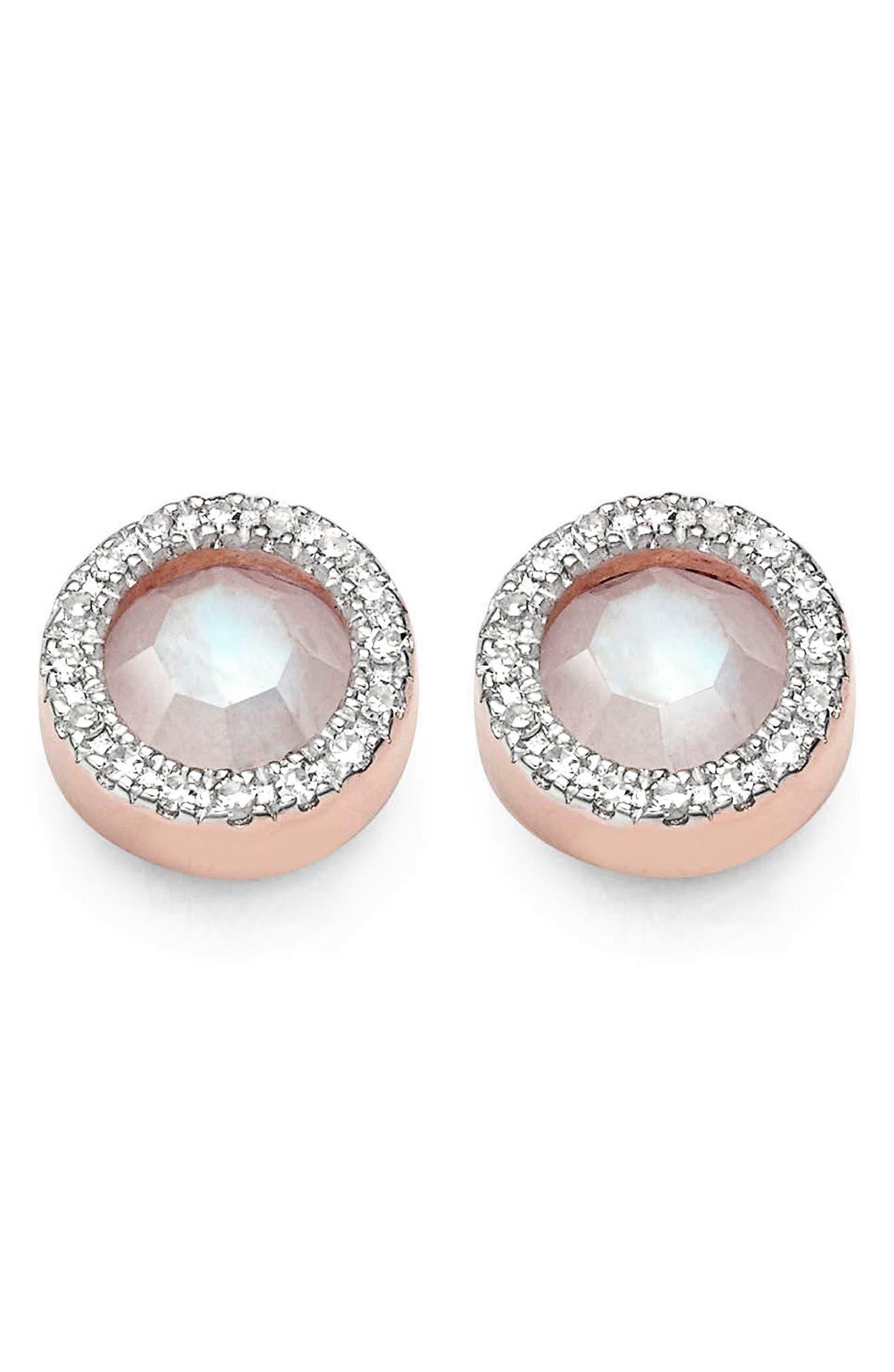 MONICA VINADER Naida Diamond & Semiprecious Stone Stud Earrings, Main, color, 665