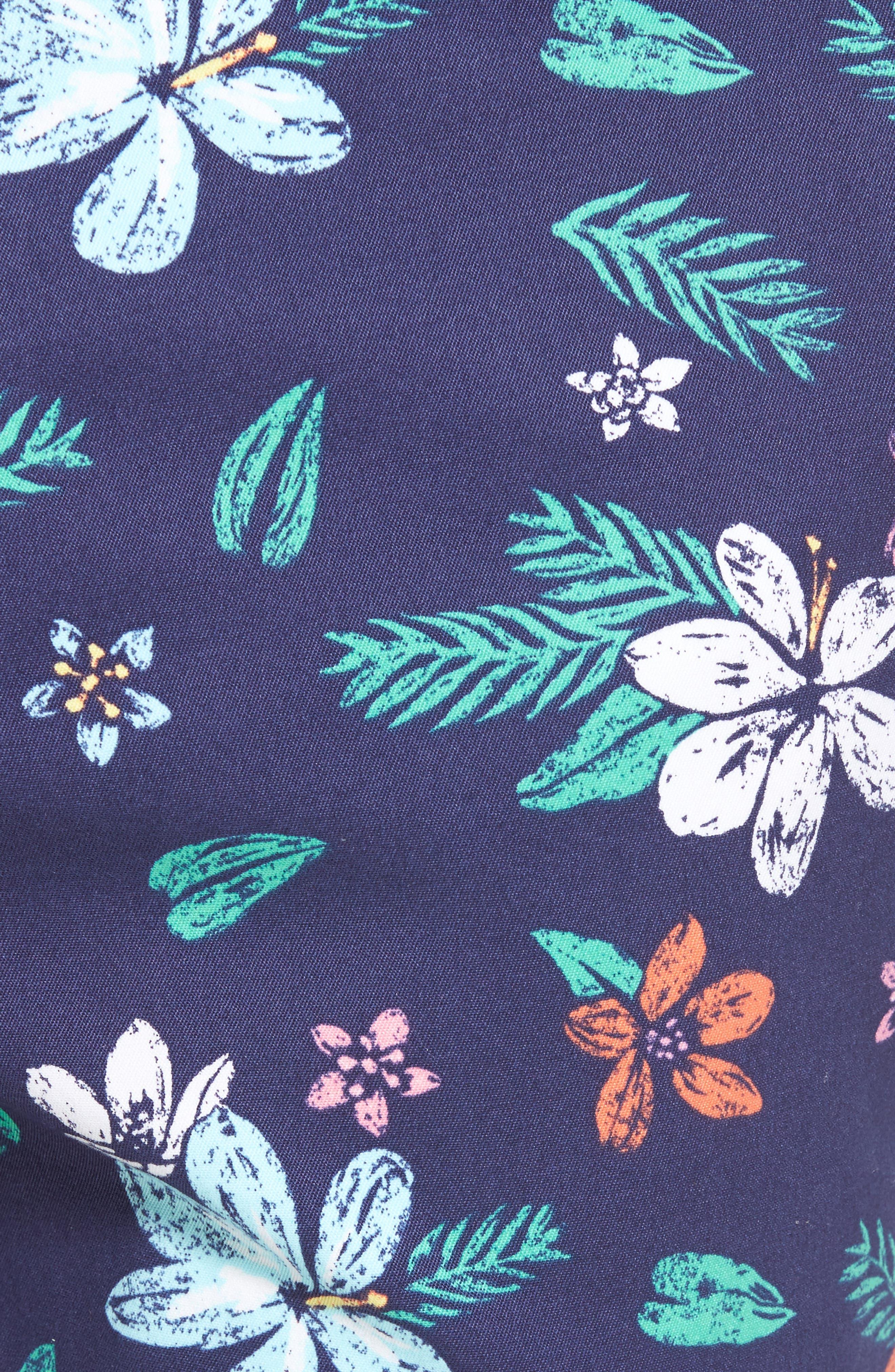 Floral Print Breaker Shorts,                             Alternate thumbnail 5, color,                             400