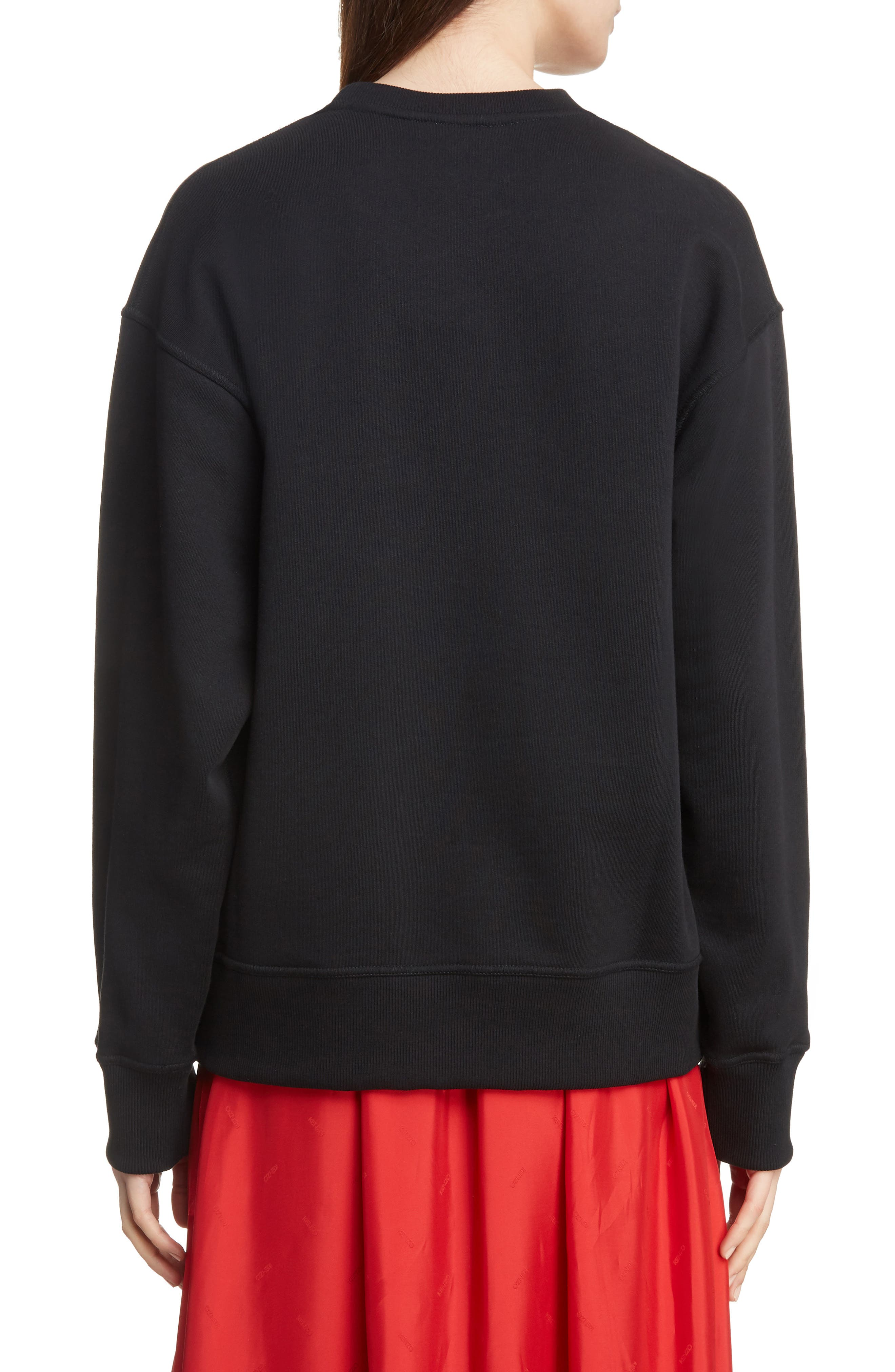 Tiger Relax Sweatshirt,                             Alternate thumbnail 2, color,                             BLACK