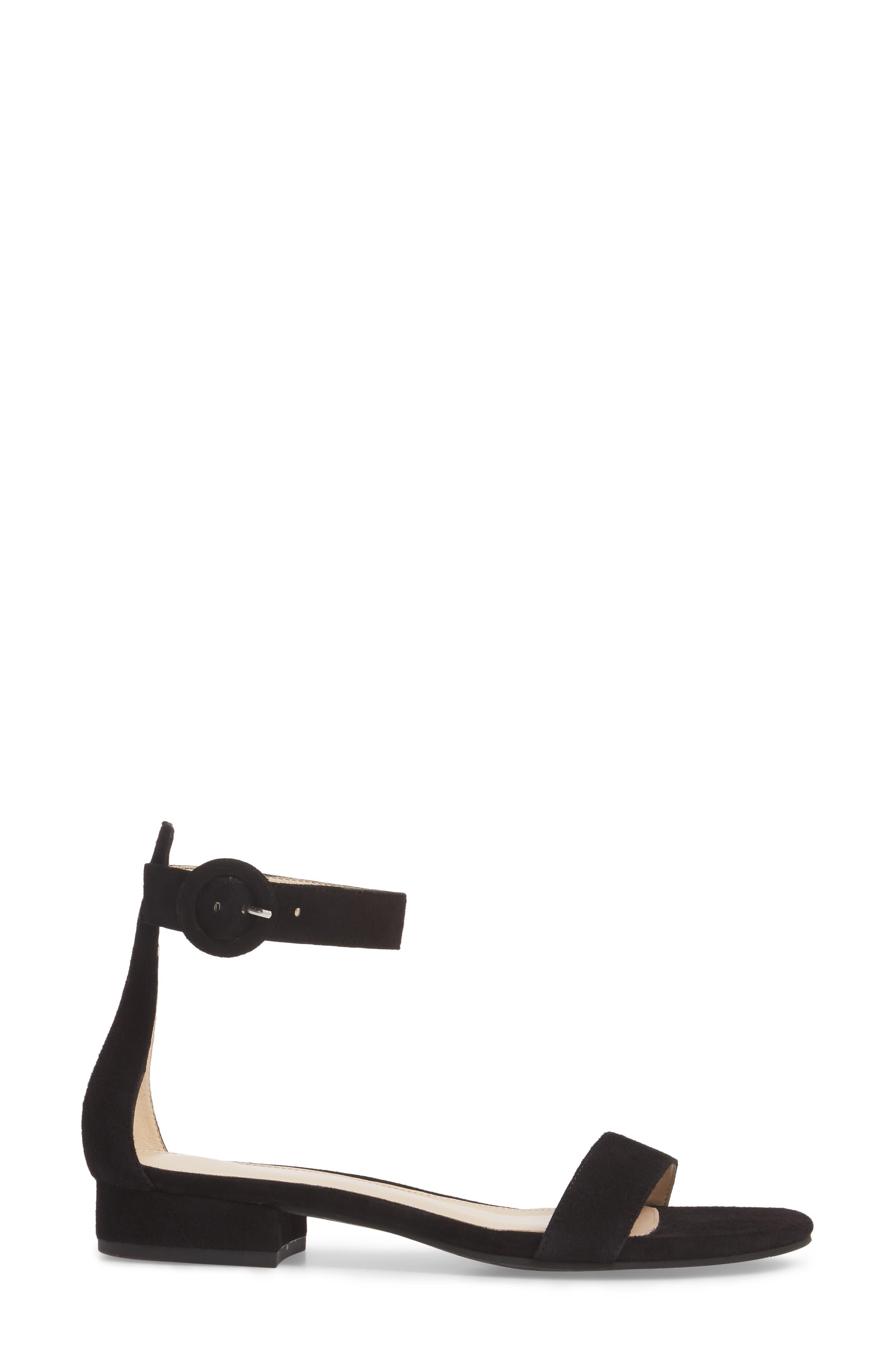 PELLE MODA,                             Newport Sandal,                             Alternate thumbnail 3, color,                             BLACK SUEDE