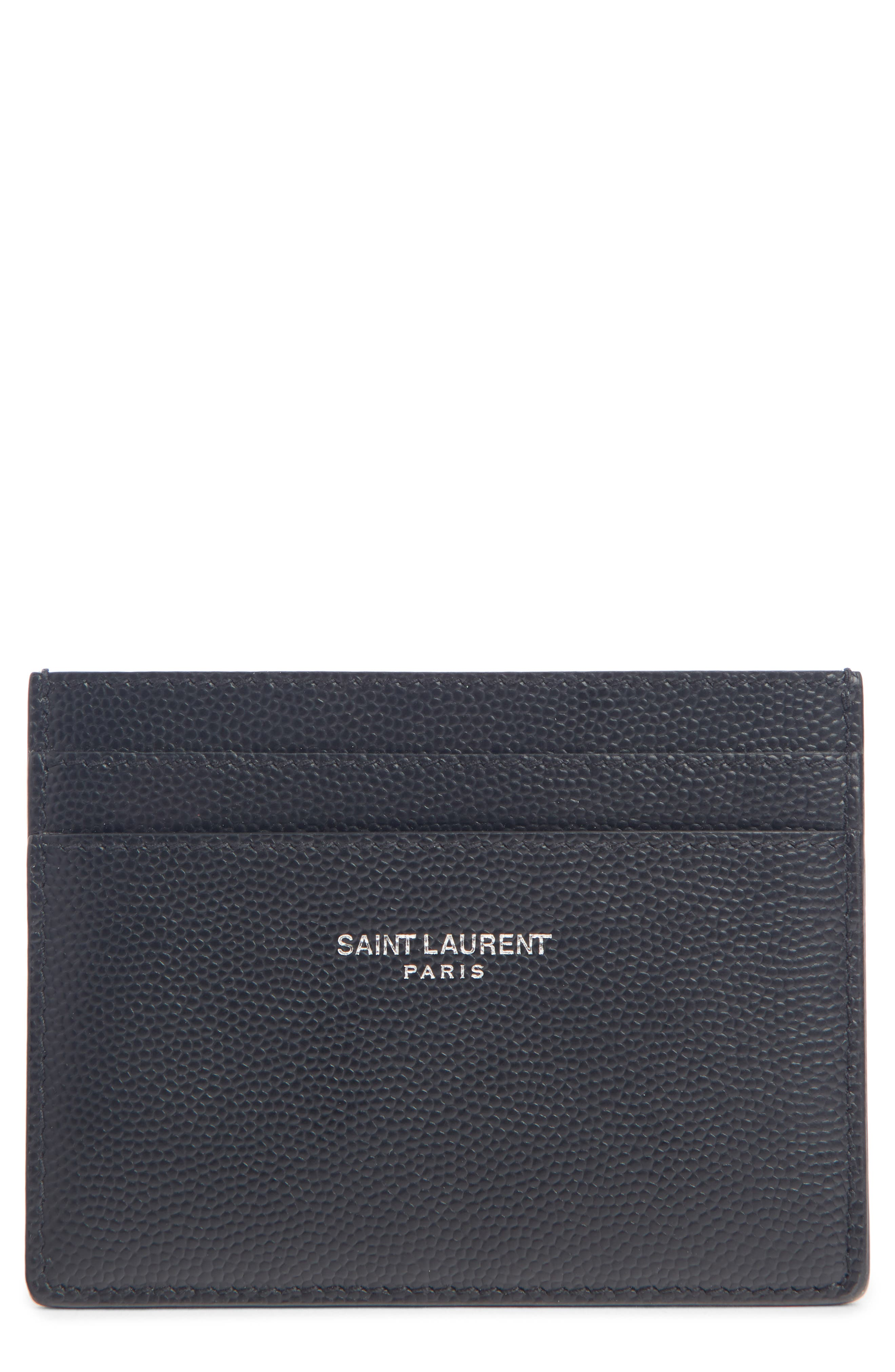 Classic Leather Card Case,                             Main thumbnail 1, color,                             001