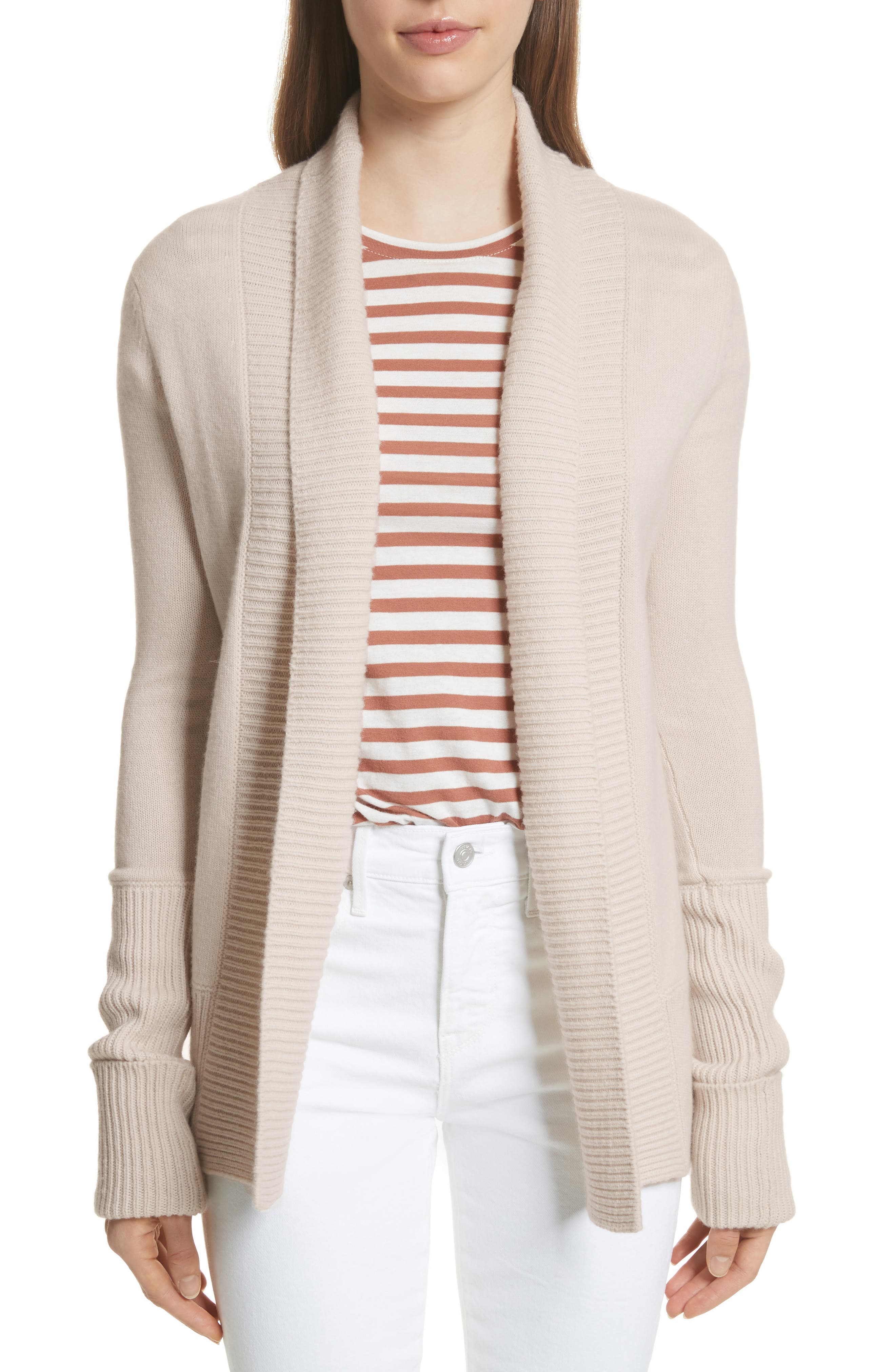 Wide Collar Cashmere Cardigan,                             Main thumbnail 2, color,