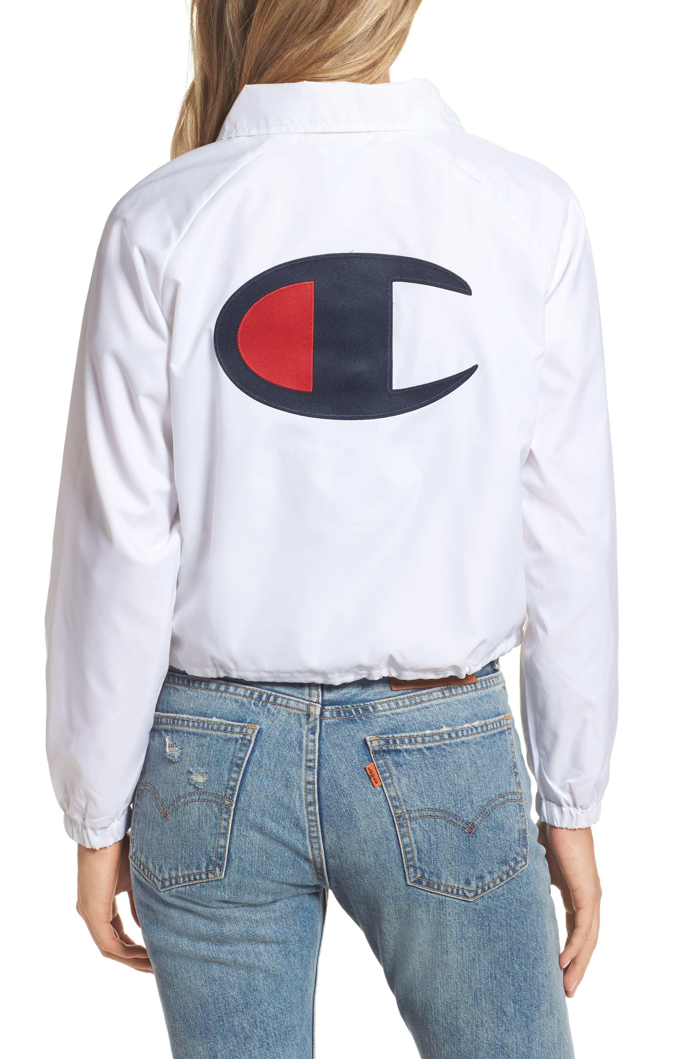 Crop Coach's Jacket,                             Alternate thumbnail 4, color,