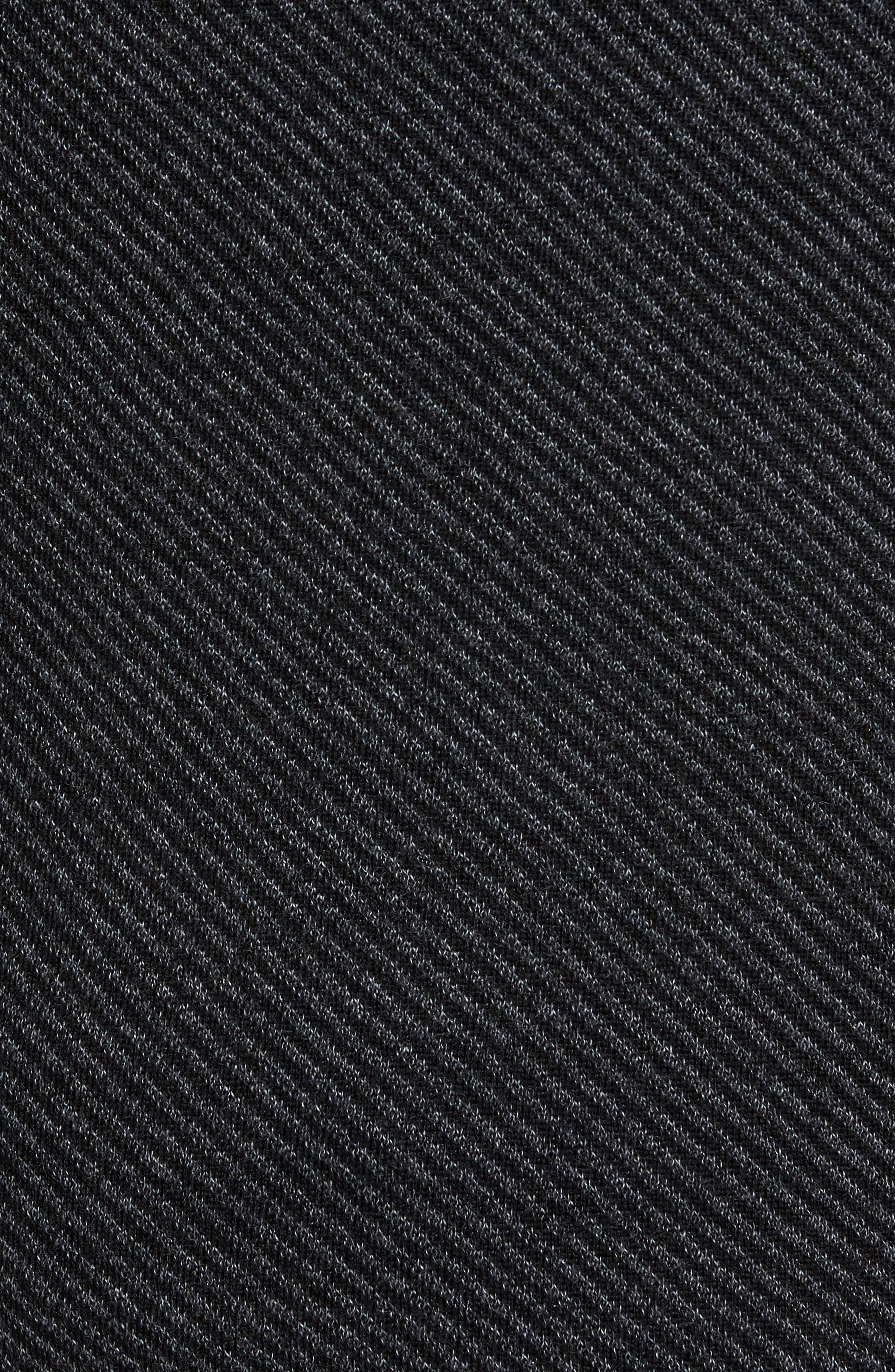 Cinamon Interest Stitch Crewneck Sweater,                             Alternate thumbnail 5, color,                             001