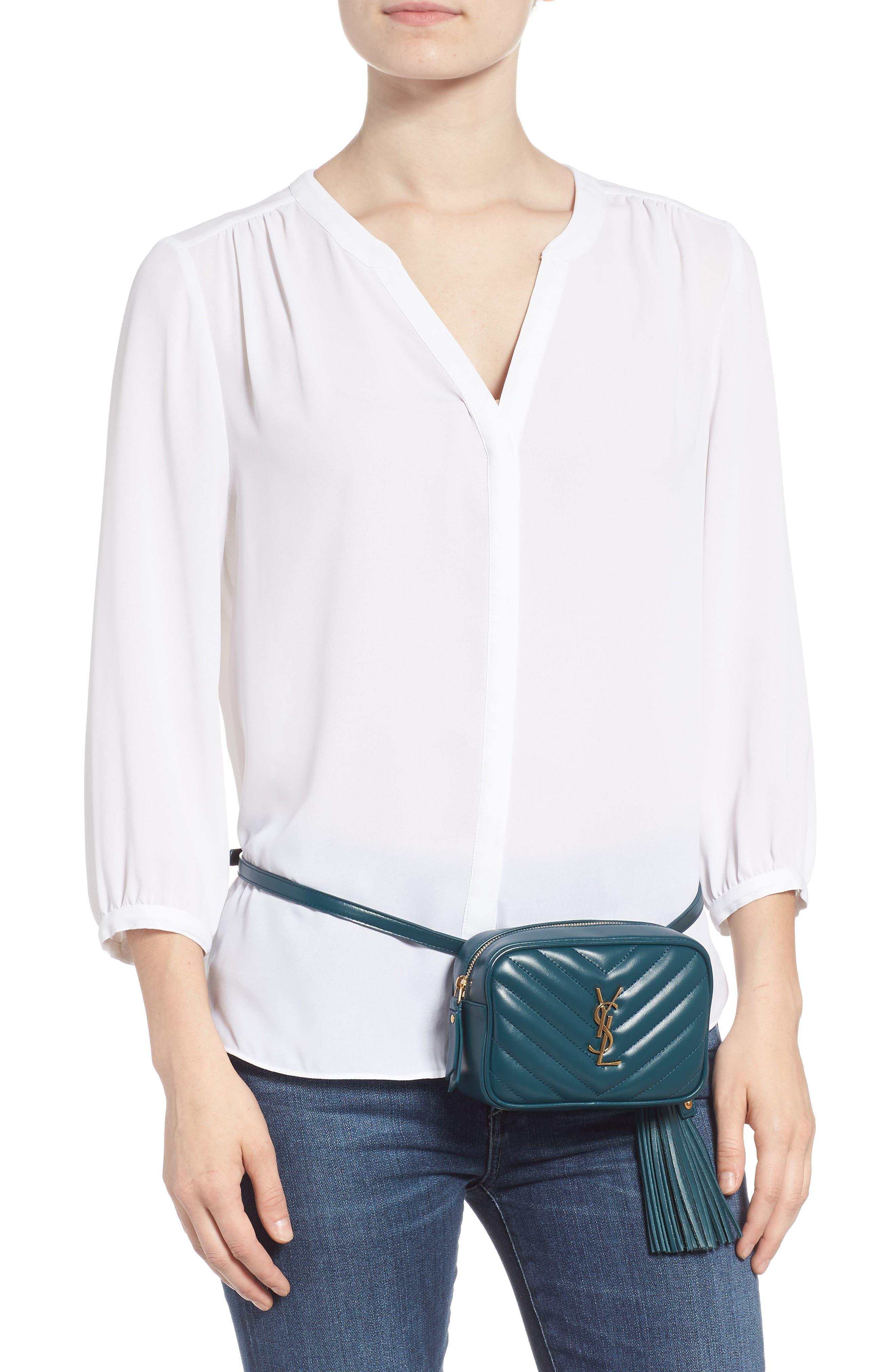 Loulou Matelassé Leather Belt Bag,                             Alternate thumbnail 2, color,                             300