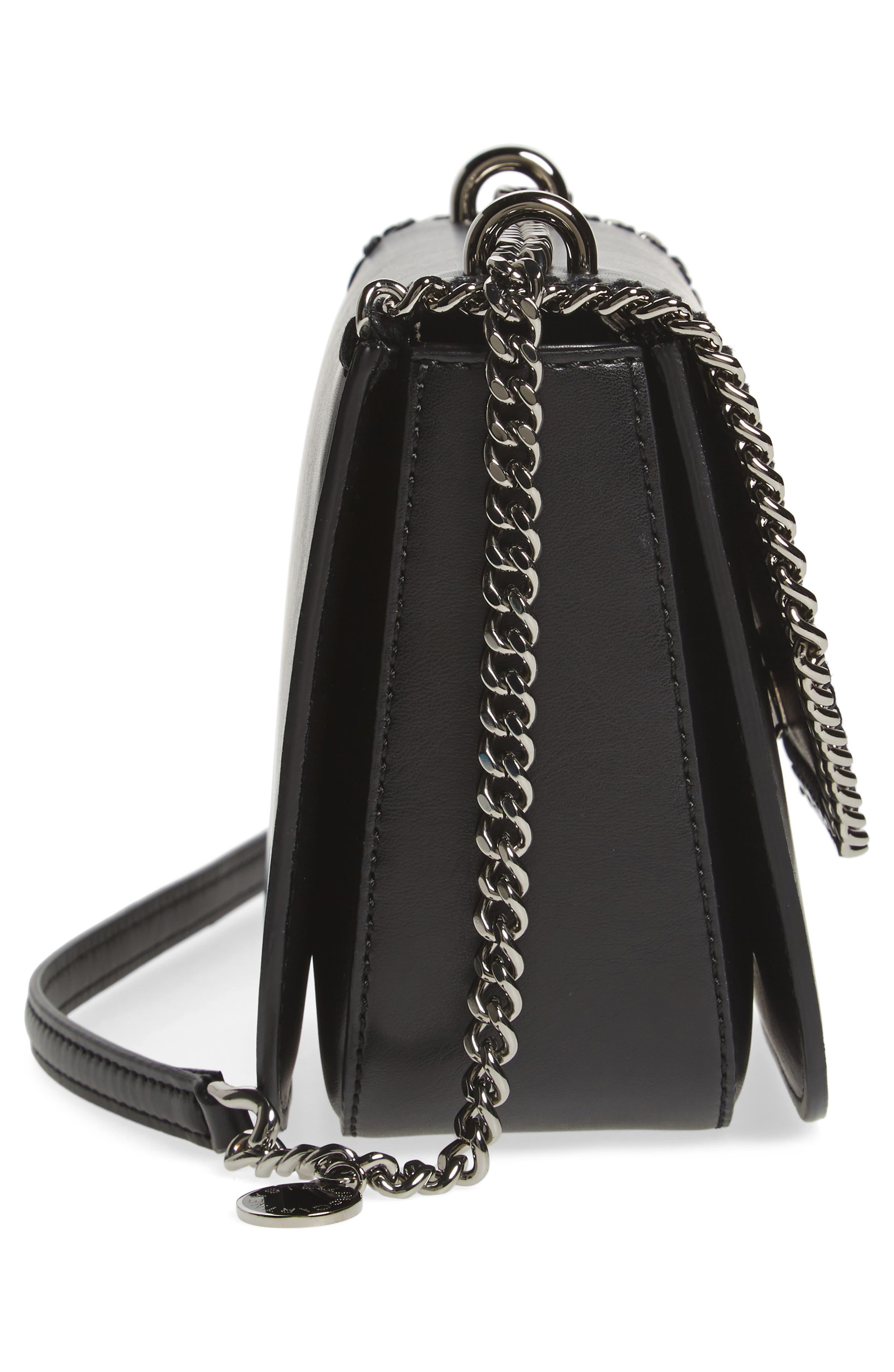 Small Falabella Box Alter Nappa Faux Leather Crossbody Bag,                             Alternate thumbnail 5, color,                             BLACK