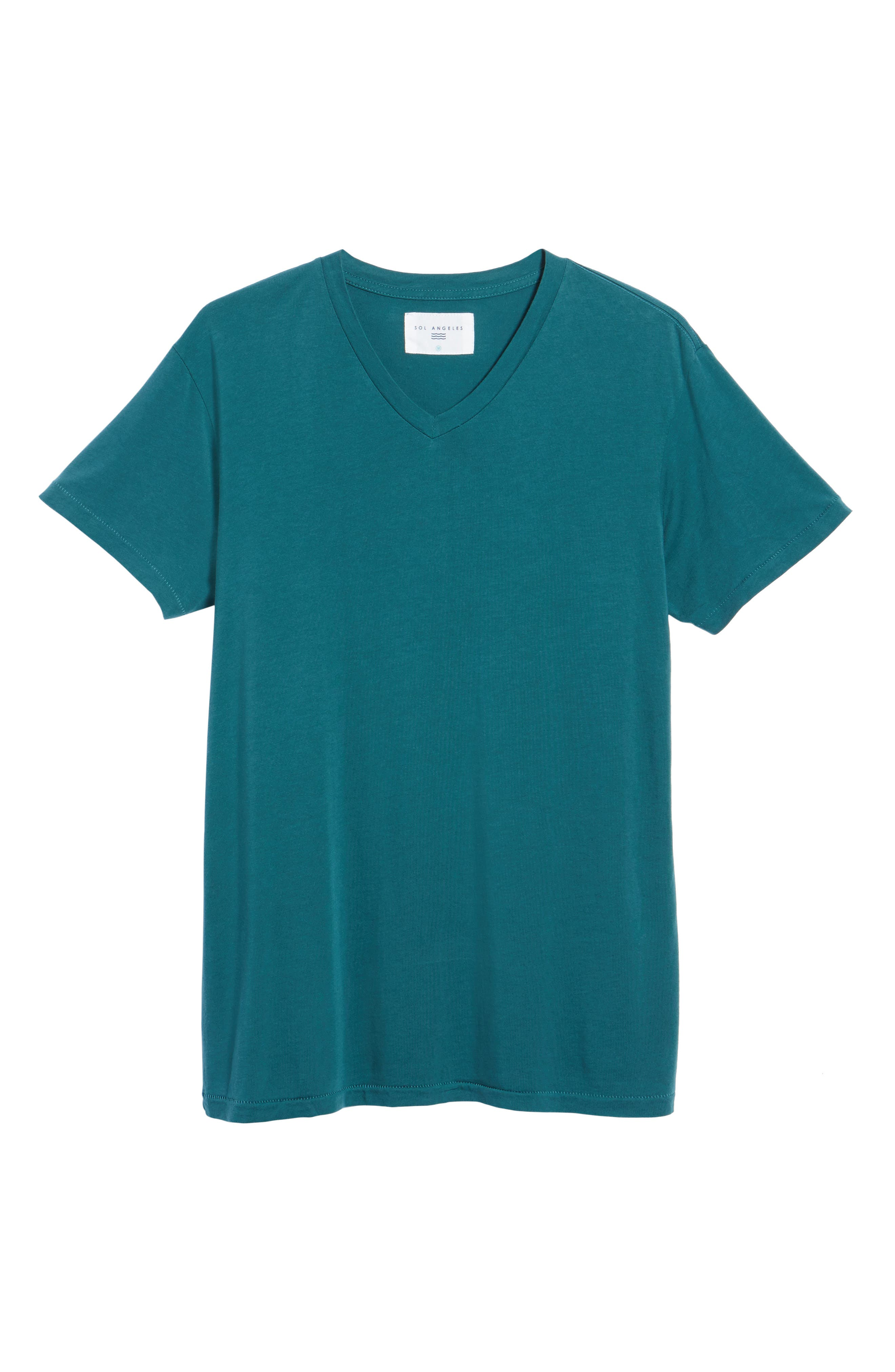 Essential V-Neck T-Shirt,                             Alternate thumbnail 6, color,                             340