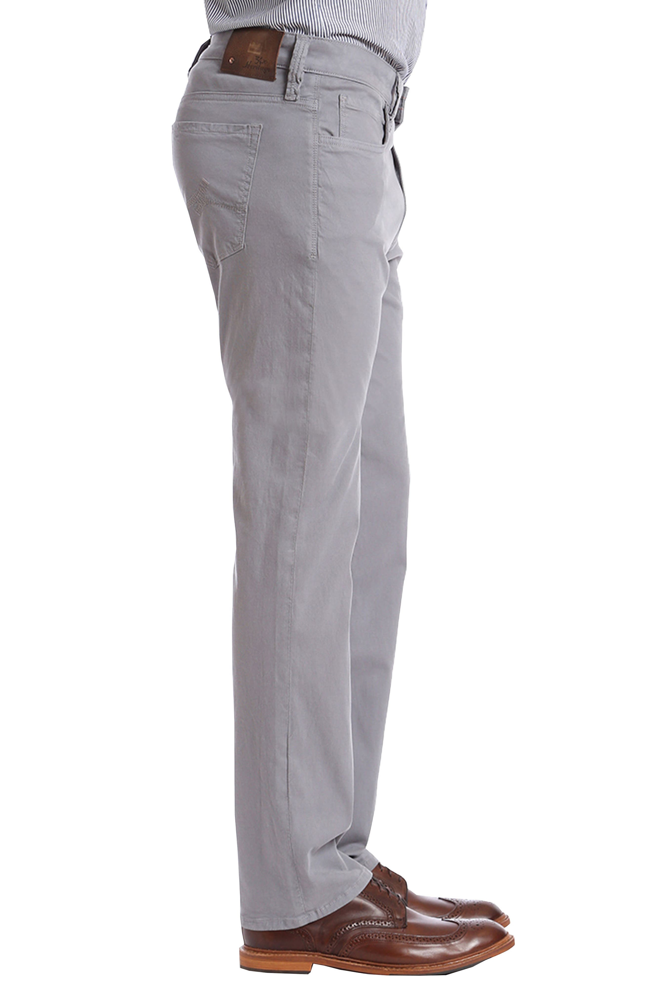 Courage Straight Leg Twill Pants,                             Alternate thumbnail 3, color,                             GREY FINE TWILL