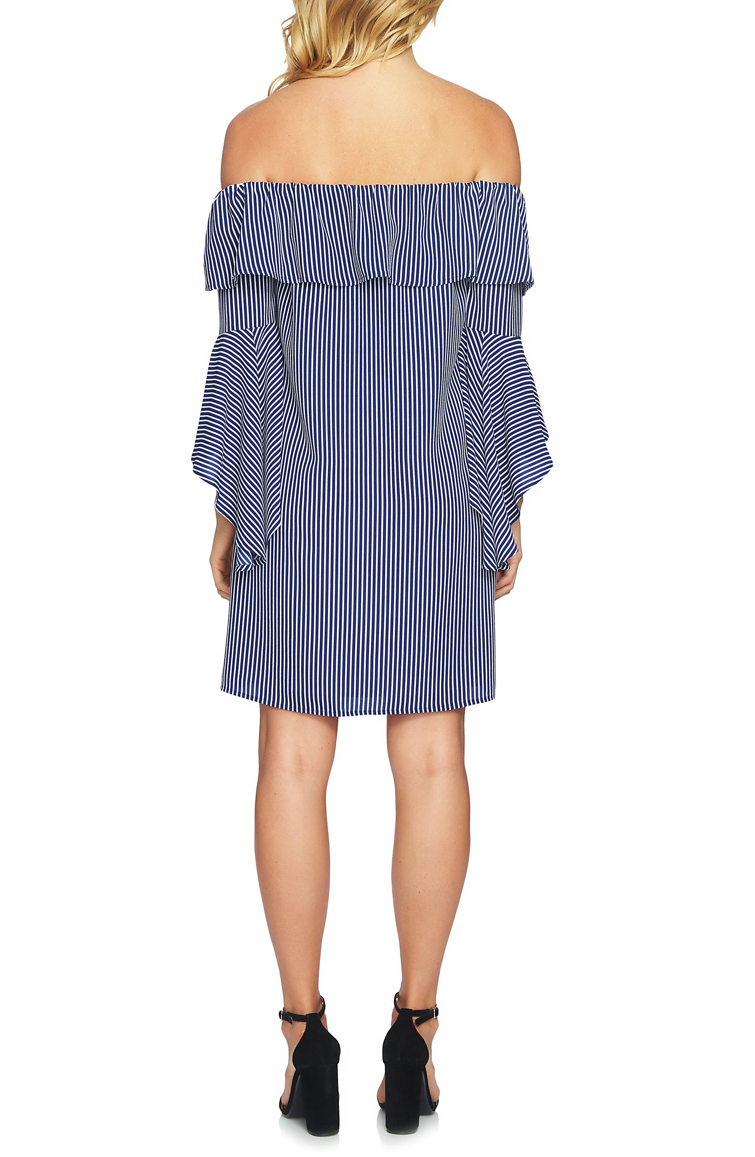Off the Shoulder Shift Dress,                             Alternate thumbnail 2, color,                             436