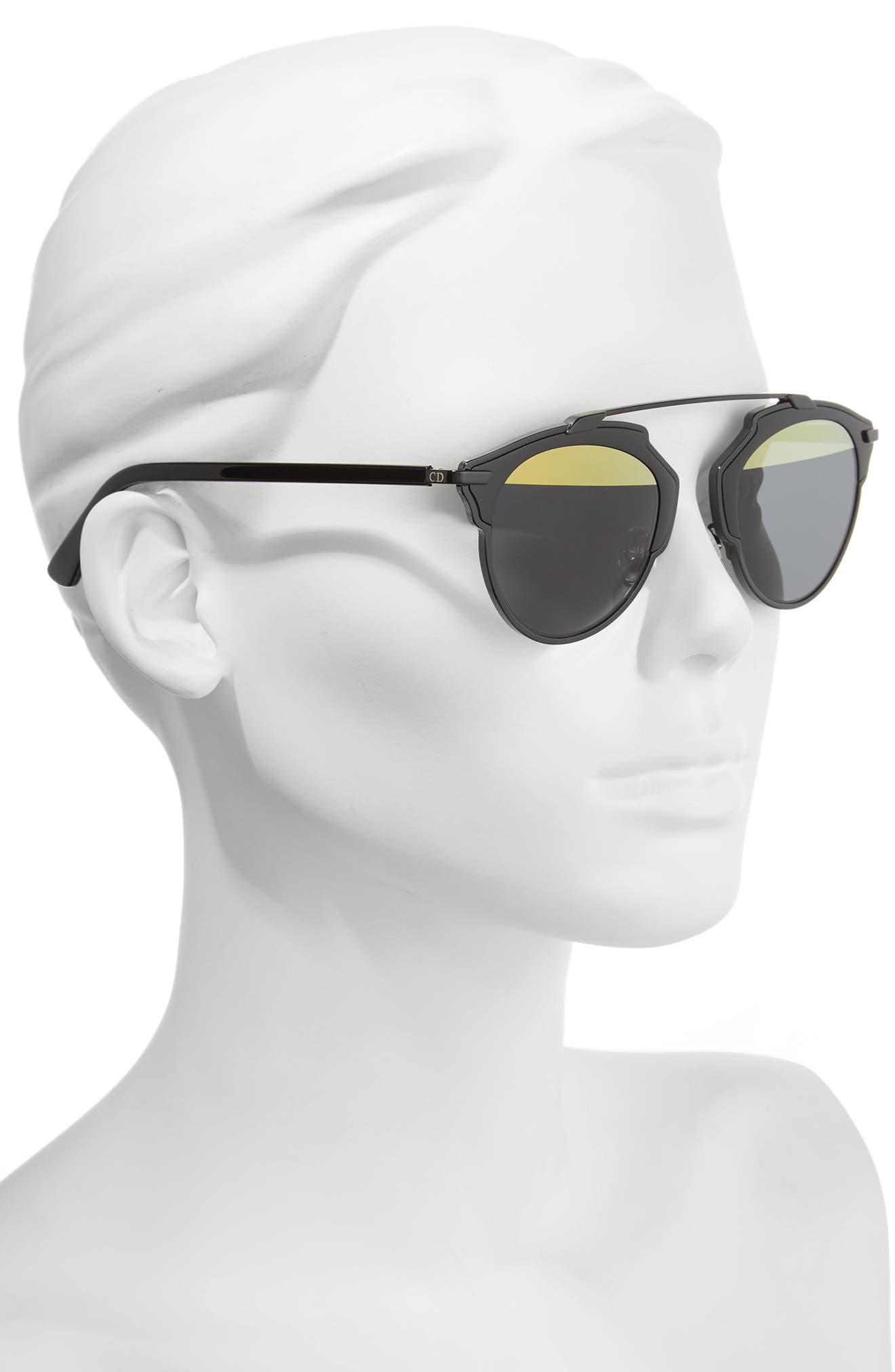 So Real 48mm Brow Bar Sunglasses,                             Alternate thumbnail 32, color,