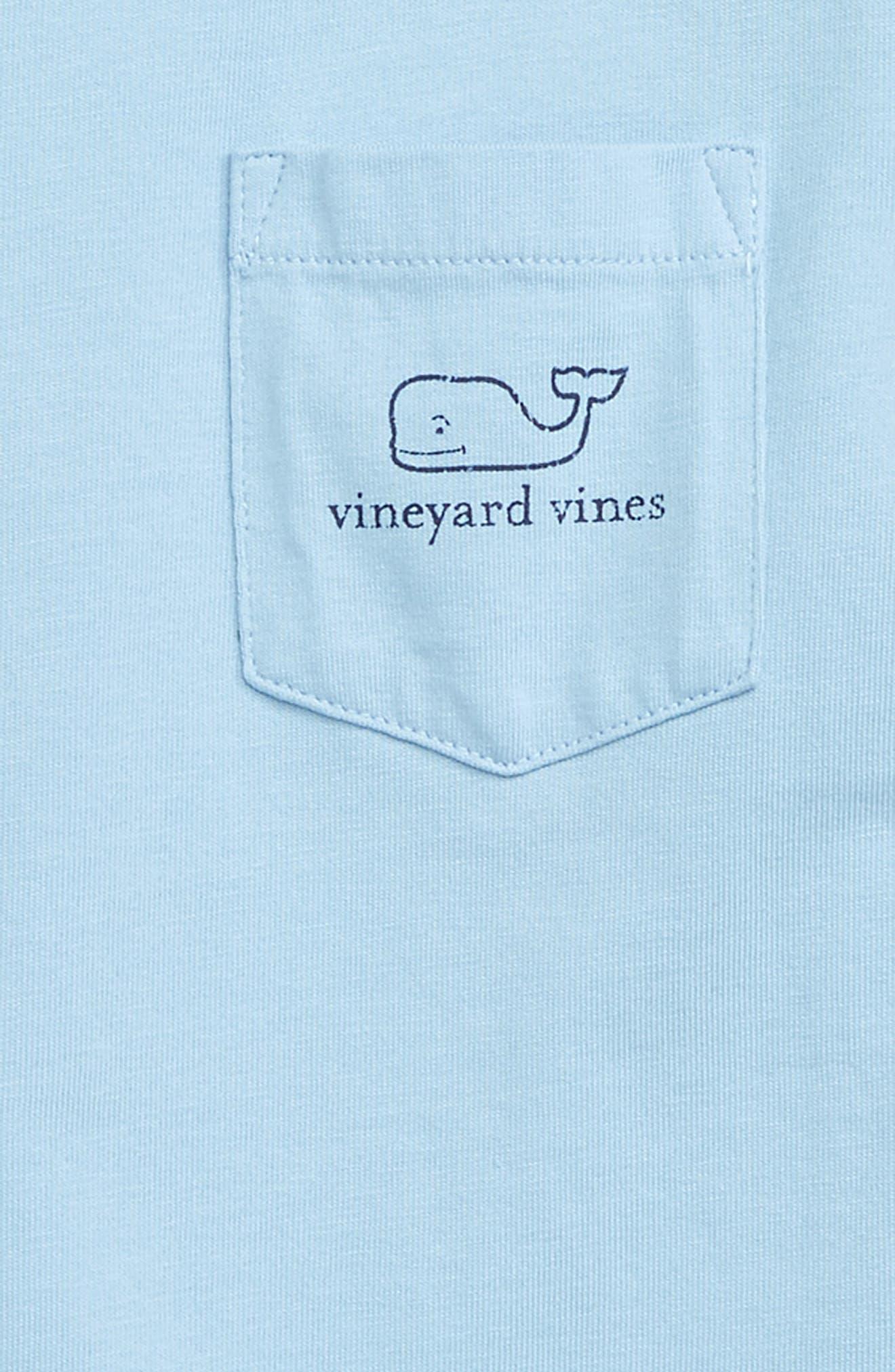 Vintage Whale Graphic Long Sleeve T-Shirt,                             Alternate thumbnail 3, color,                             JAKE BLUE