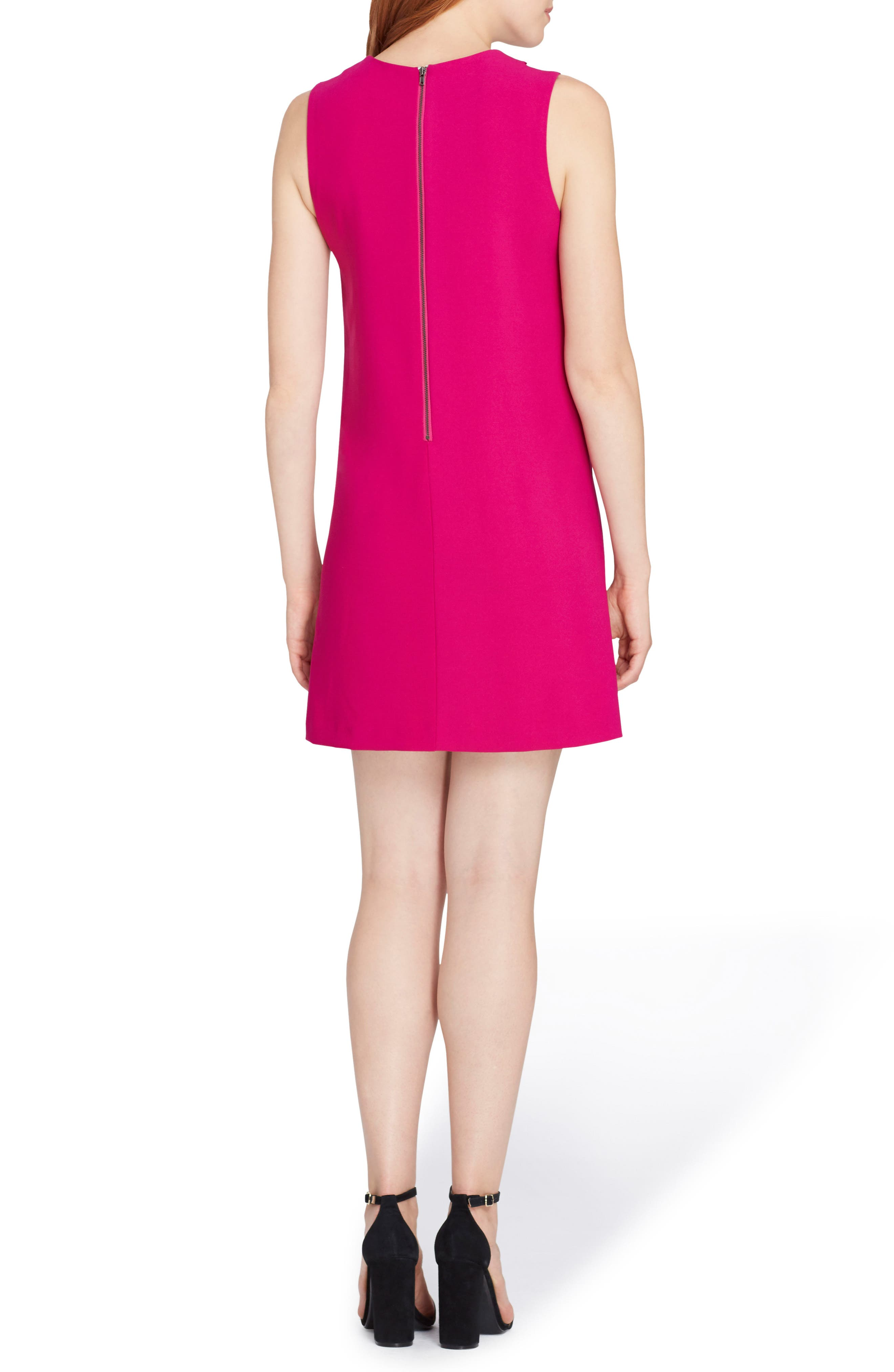 Scallop Detail Shift Dress,                             Alternate thumbnail 2, color,                             681
