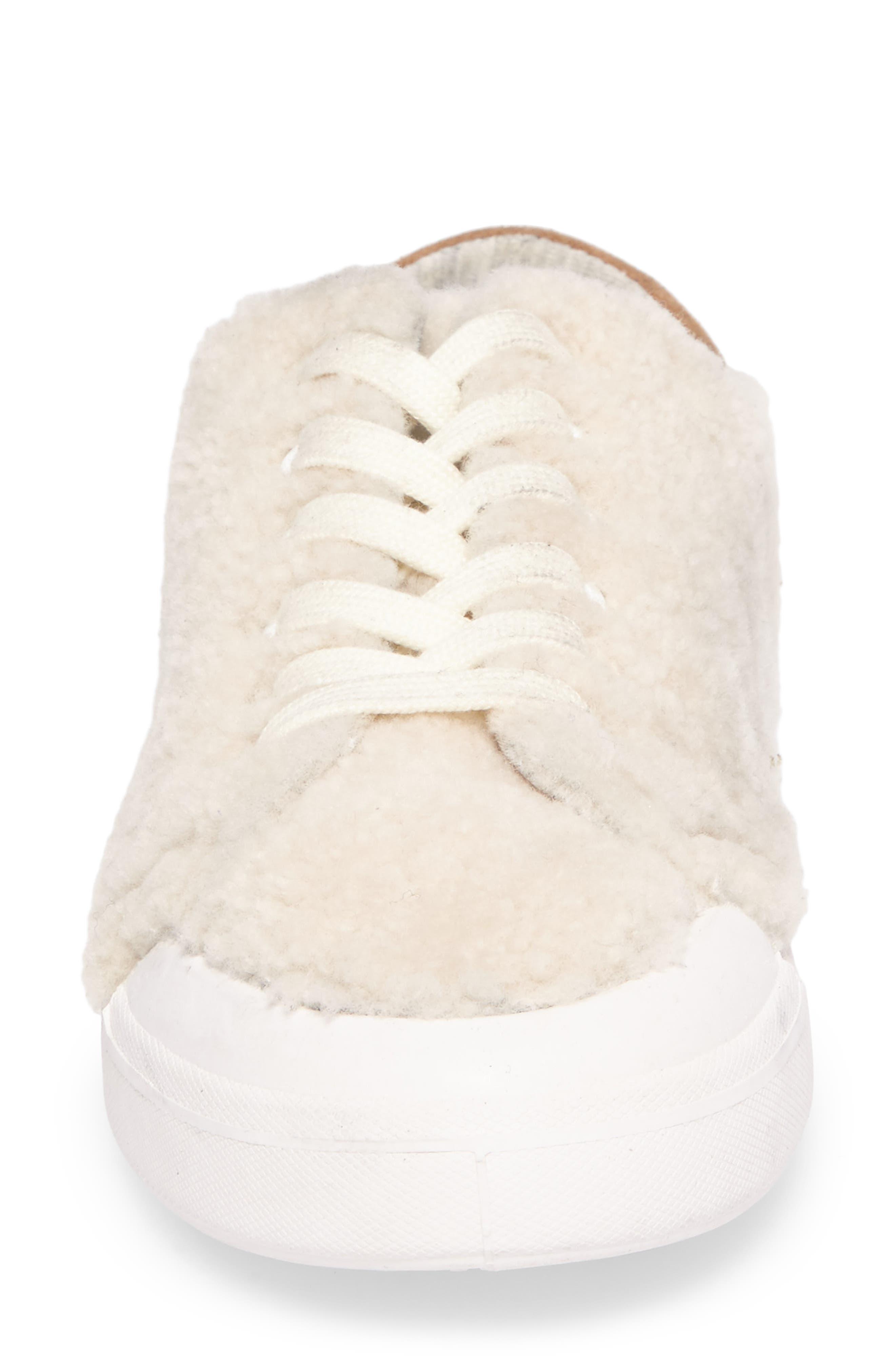 Standard Issue Genuine Shearling Sneaker,                             Alternate thumbnail 4, color,                             900