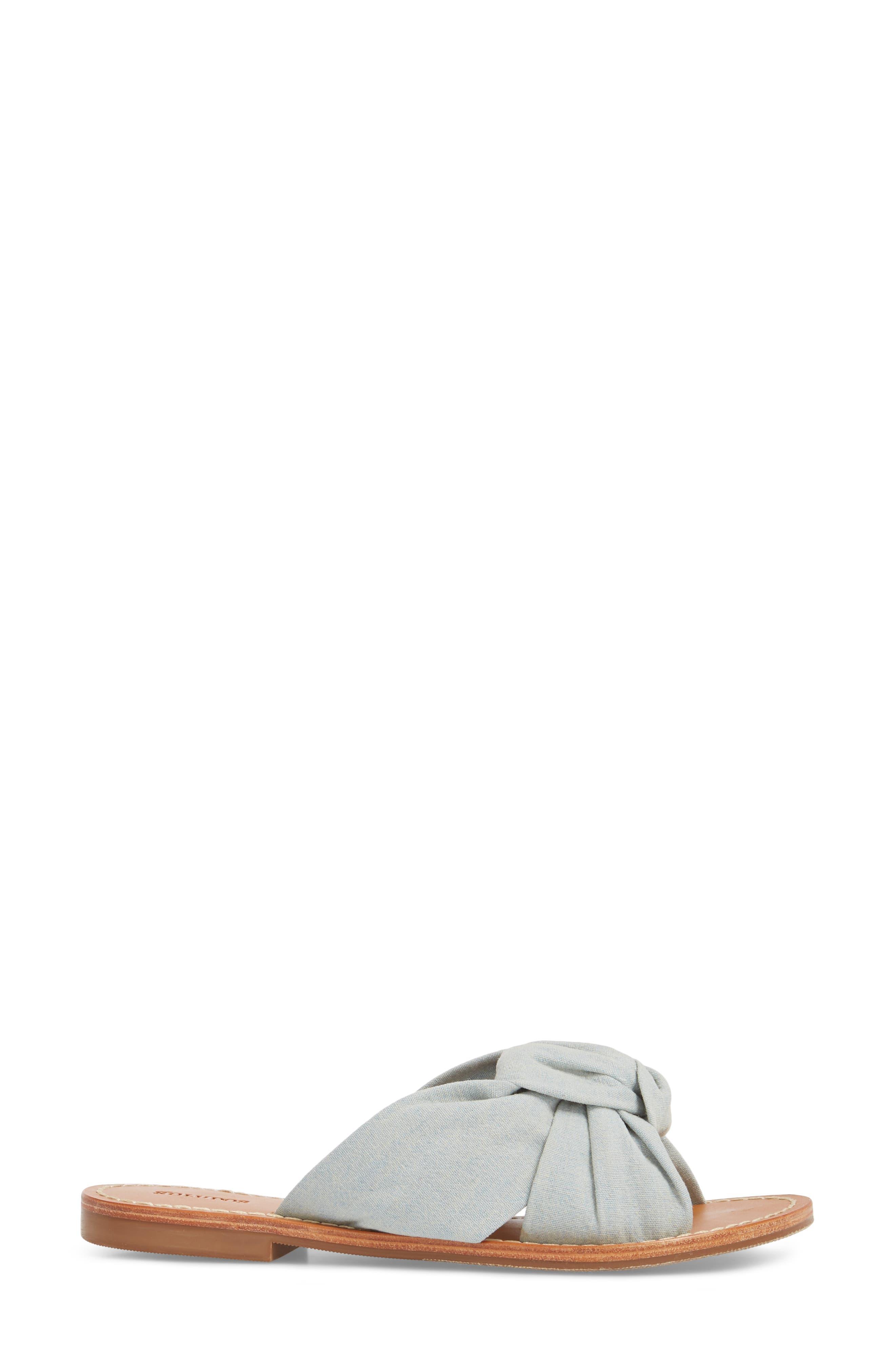 Knotted Slide Sandal,                             Alternate thumbnail 3, color,                             420