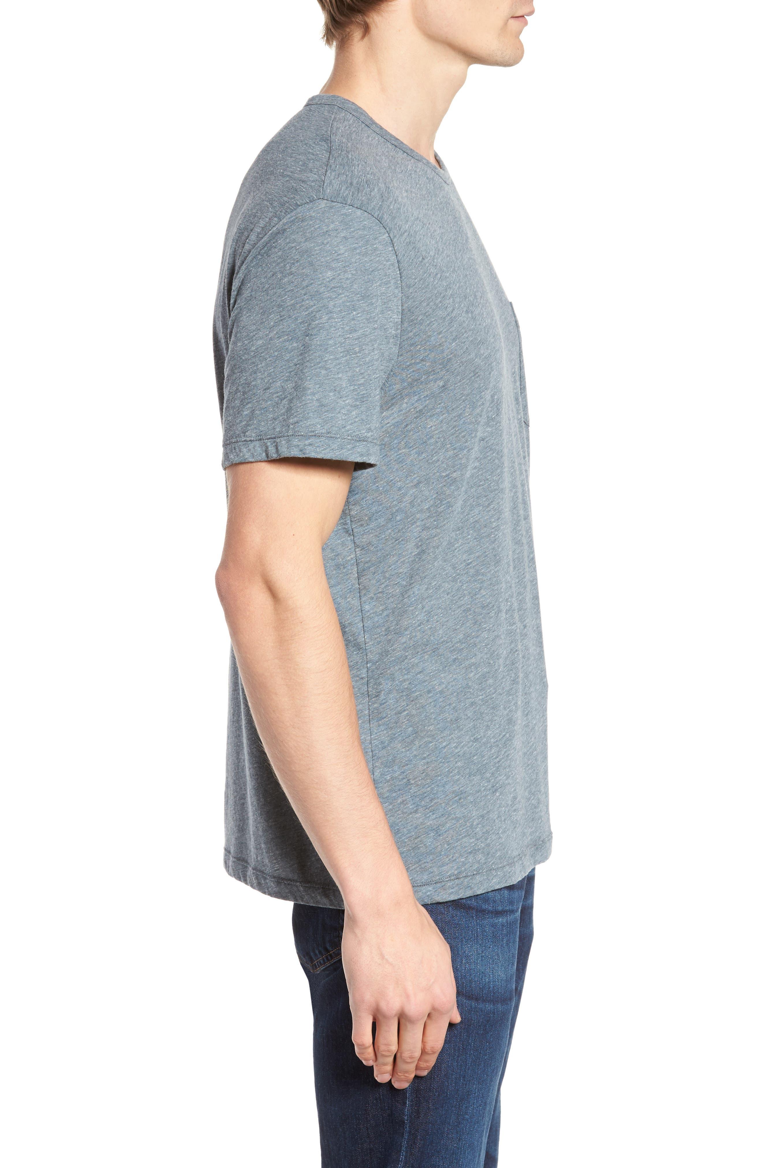 Slubbed Cotton & Linen Pocket T-Shirt,                             Alternate thumbnail 8, color,