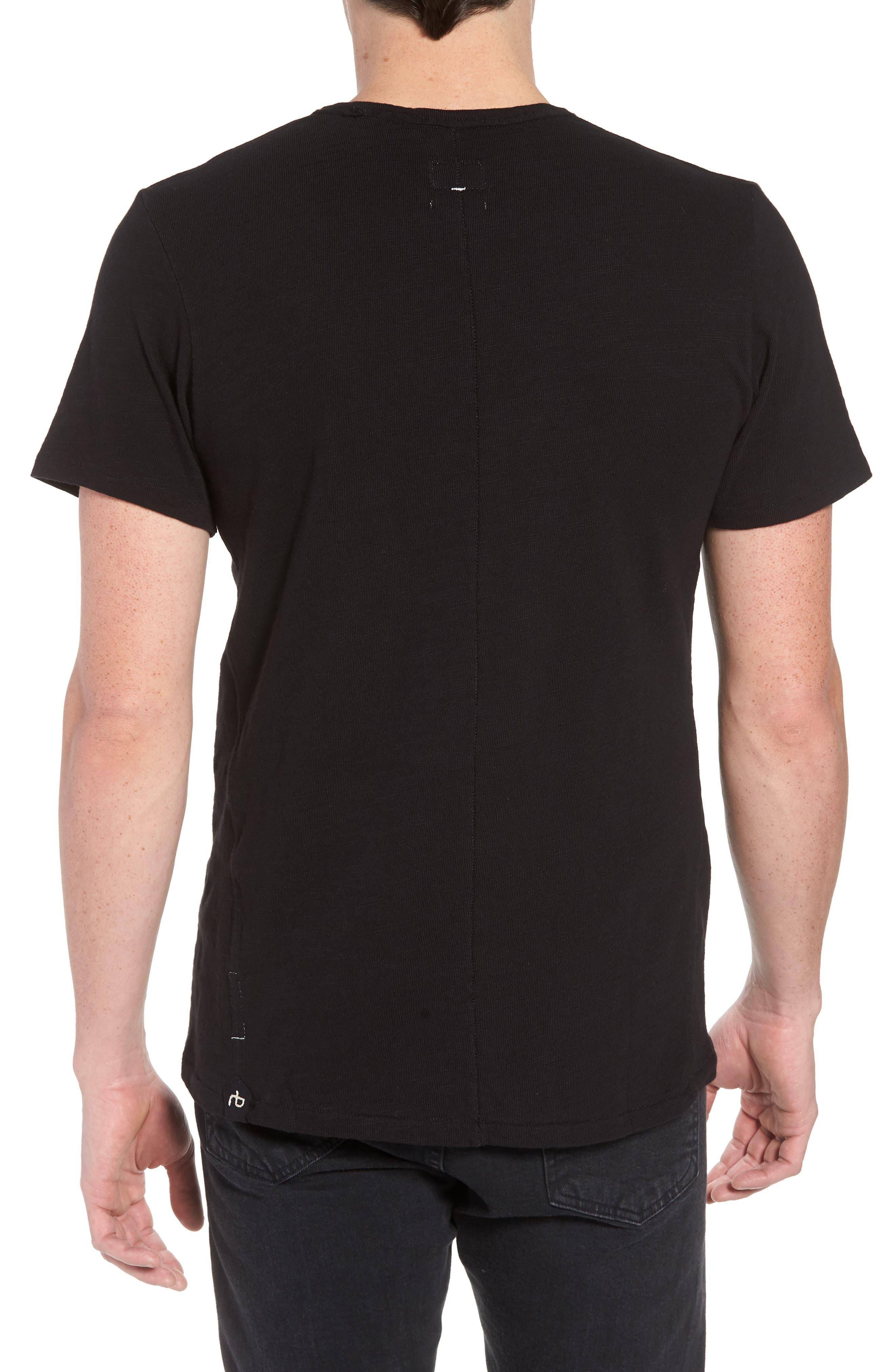 Classic Crewneck Cotton T-Shirt,                             Alternate thumbnail 2, color,                             JET BLACK
