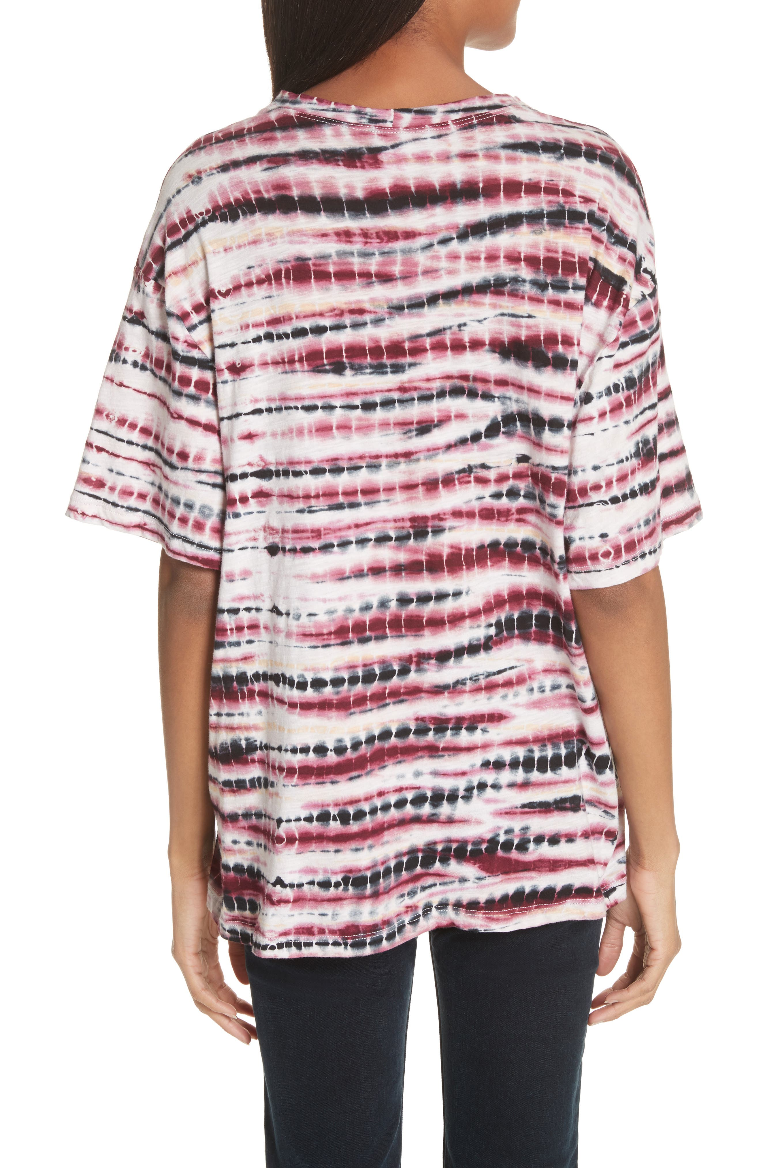 PROENZA SCHOULER,                             Tie Dye Tissue Jersey Tee,                             Alternate thumbnail 2, color,                             930