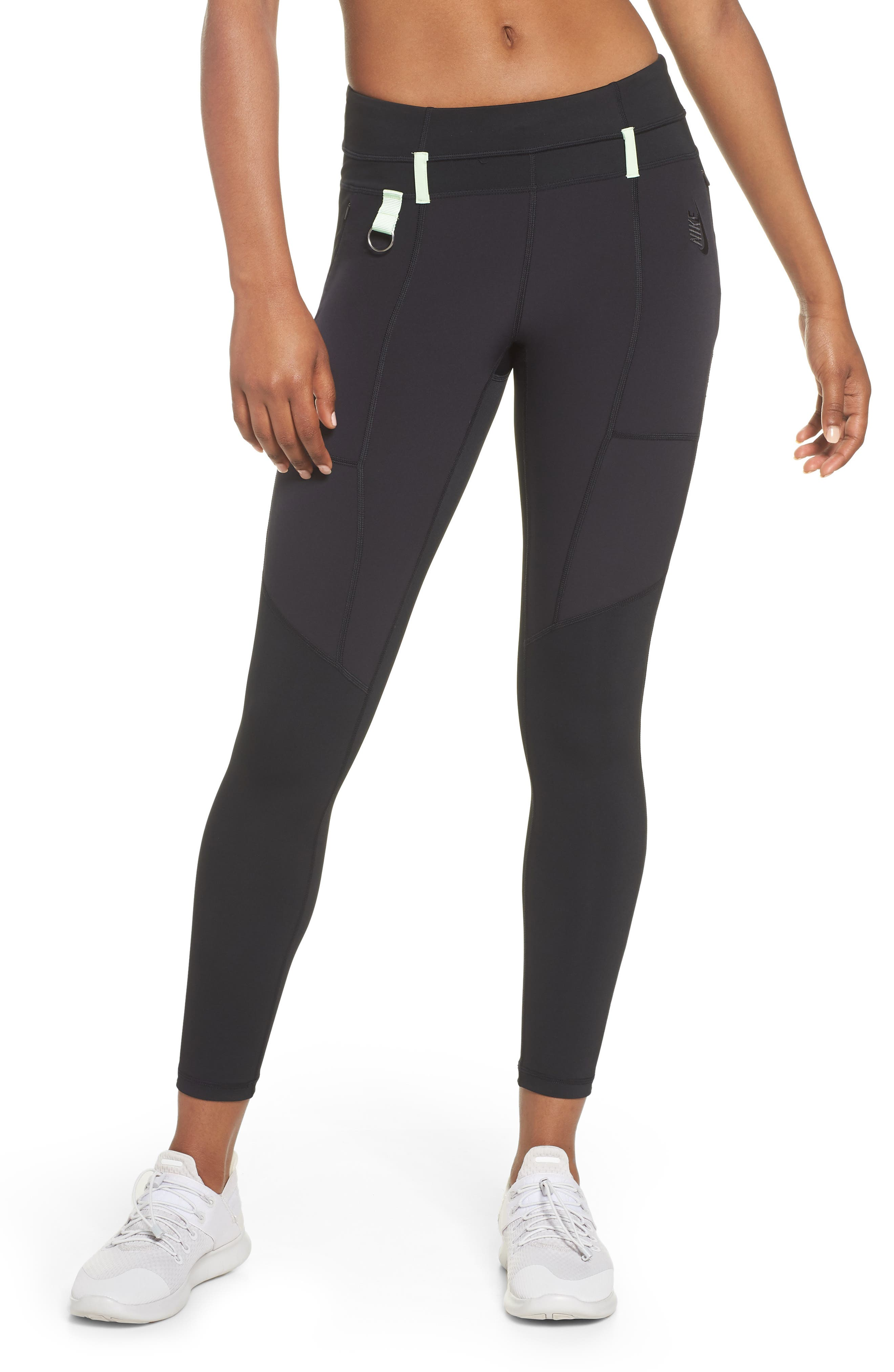 NRG Women's Dri-FIT Tights,                         Main,                         color, BLACK/ VAPOR GREEN/ BLACK