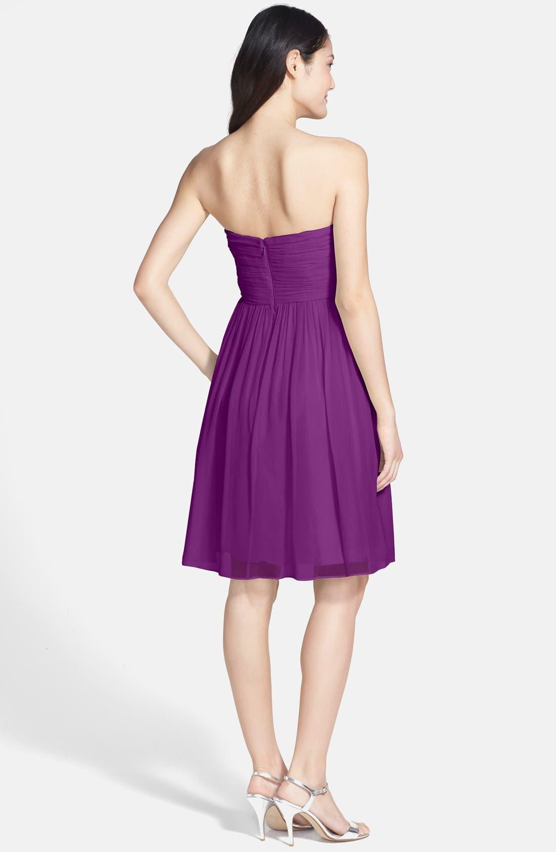 'Morgan' Strapless Silk Chiffon Dress,                             Alternate thumbnail 116, color,