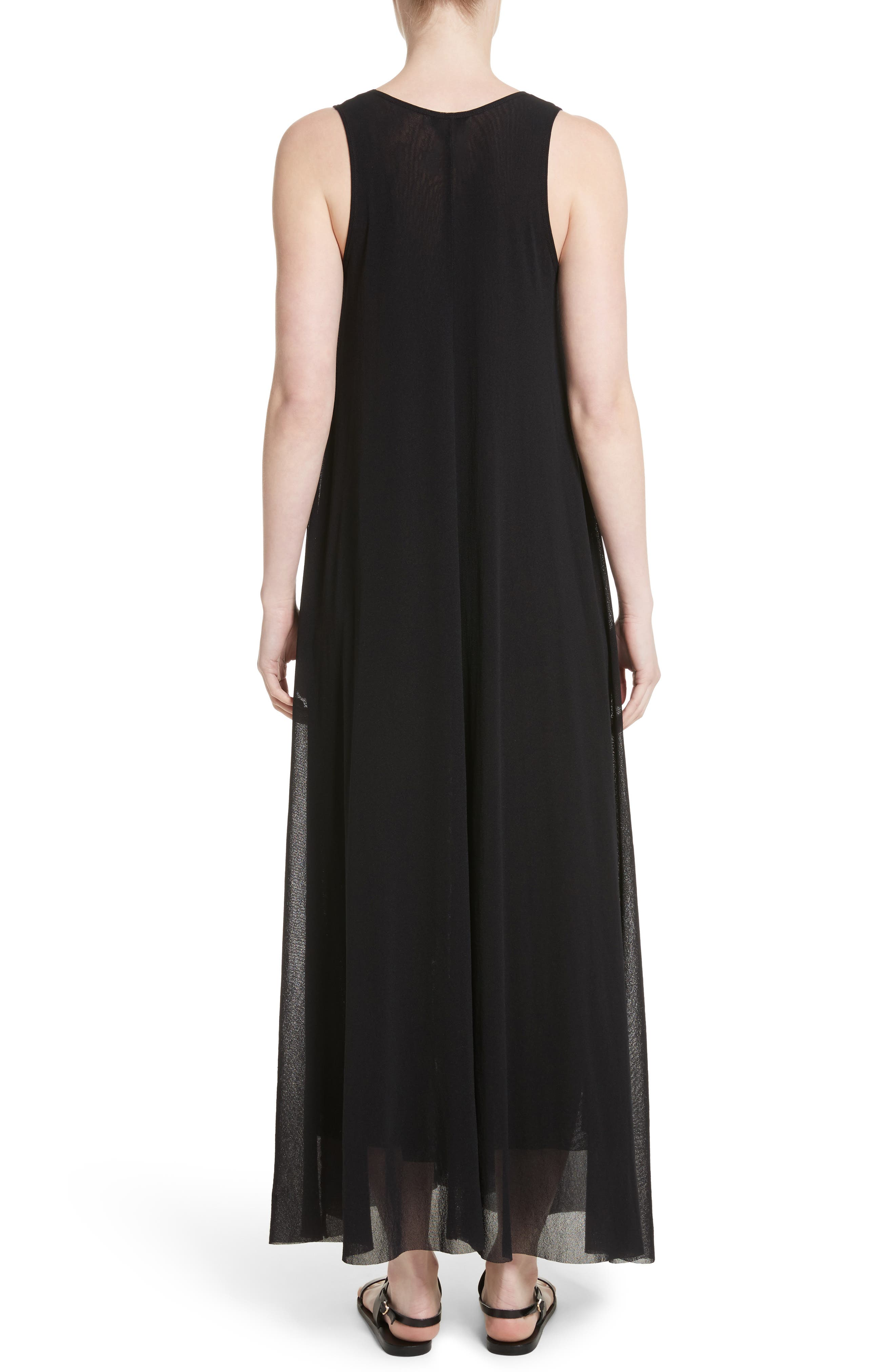 Belted Tulle Maxi Dress,                             Alternate thumbnail 3, color,