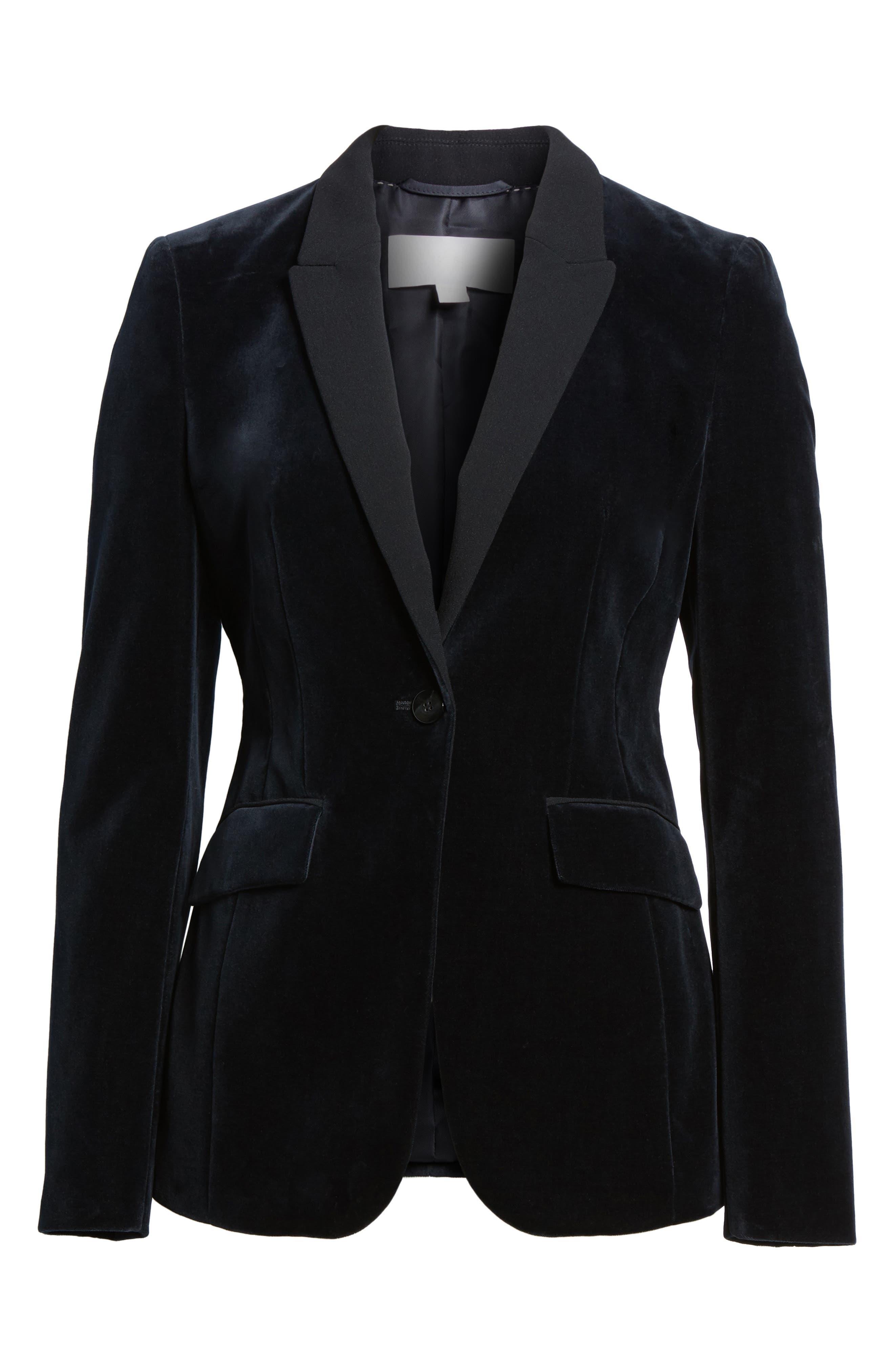 Jeronala Velvet Tuxedo Jacket,                             Alternate thumbnail 5, color,                             480