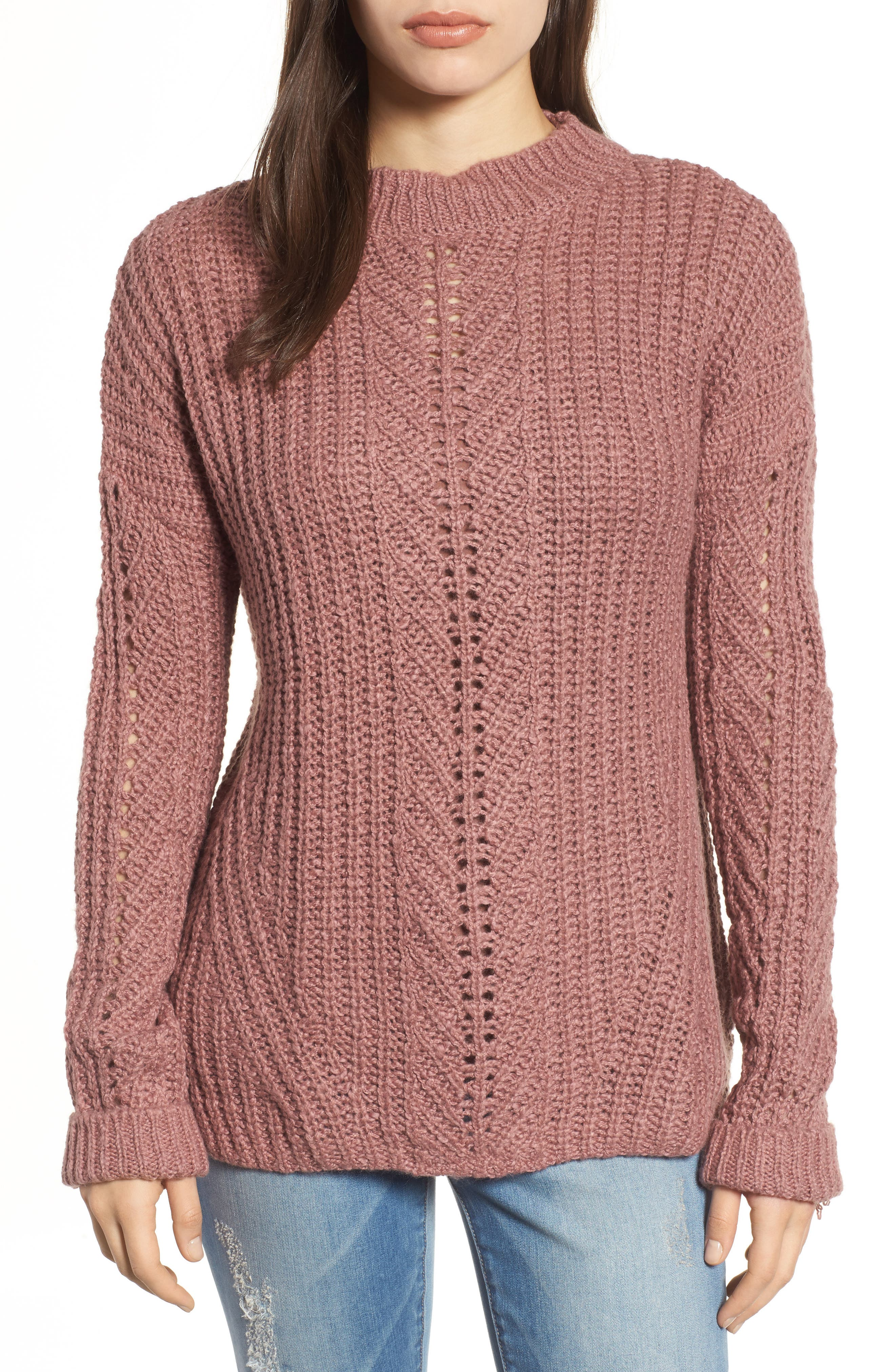 Open Stitch Sweater,                             Main thumbnail 1, color,                             676