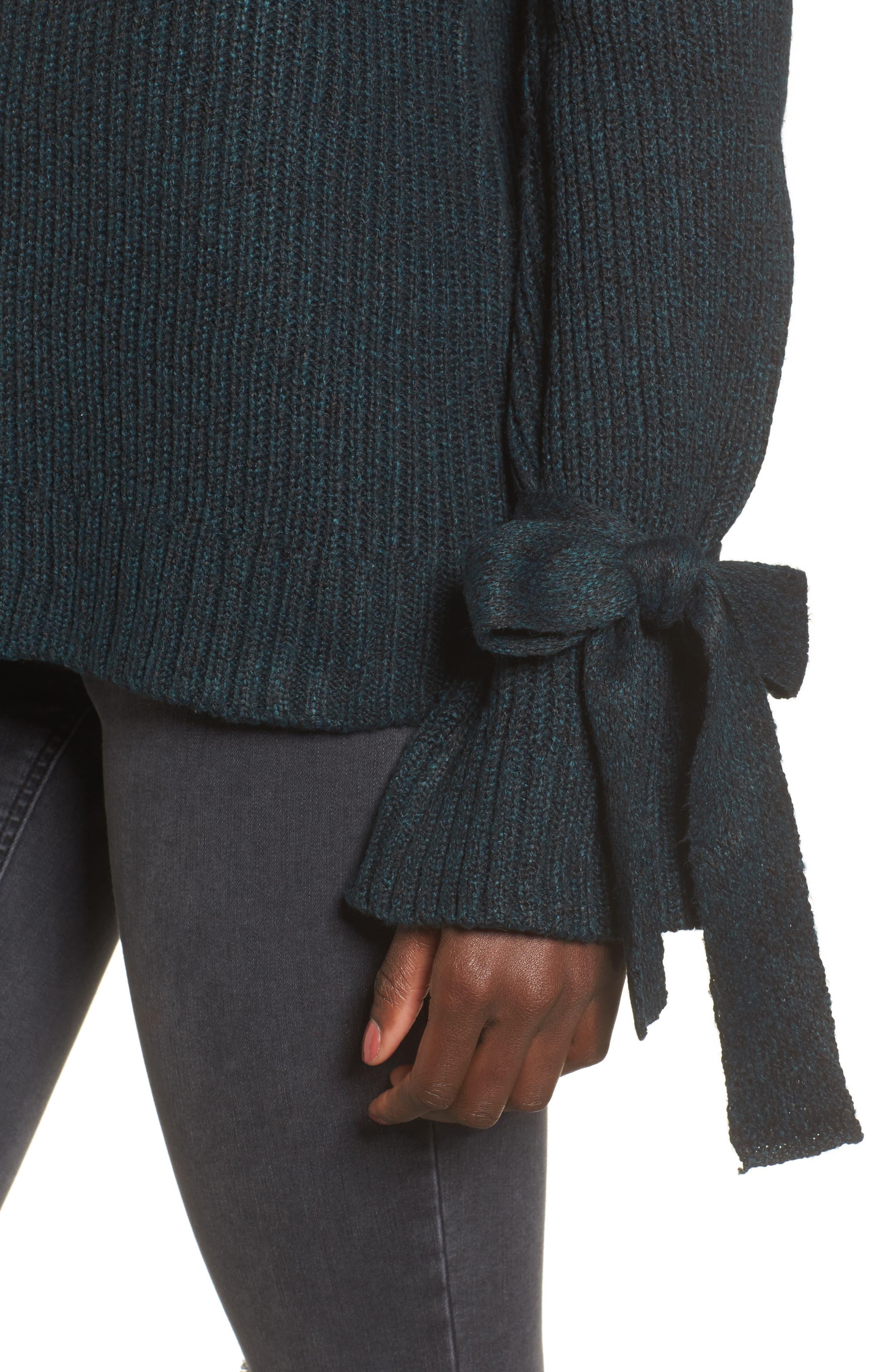 Cold Shoulder Turtleneck Sweater,                             Alternate thumbnail 4, color,                             300