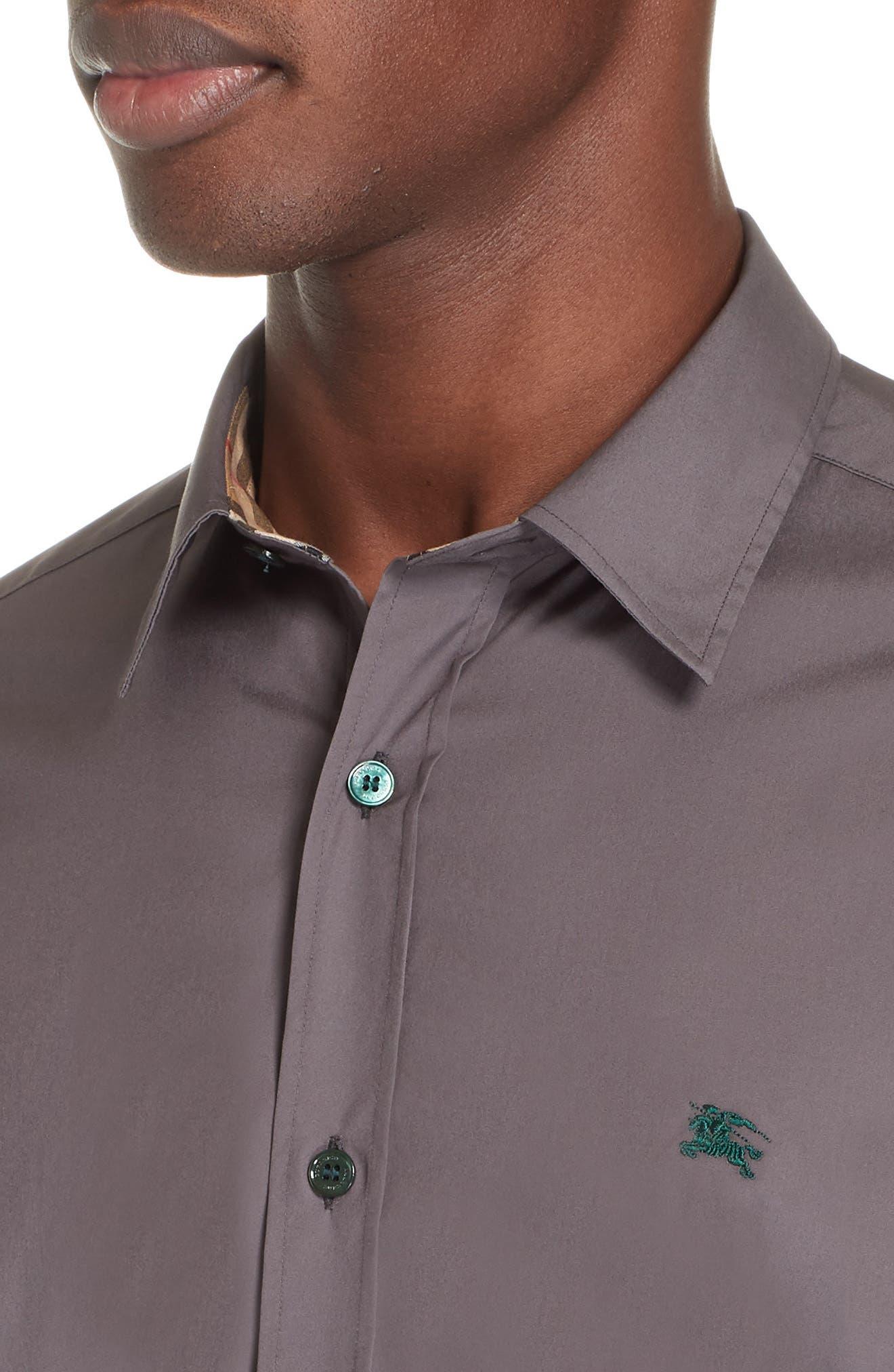 William Woven Sport Shirt,                             Alternate thumbnail 2, color,                             STONE GREY