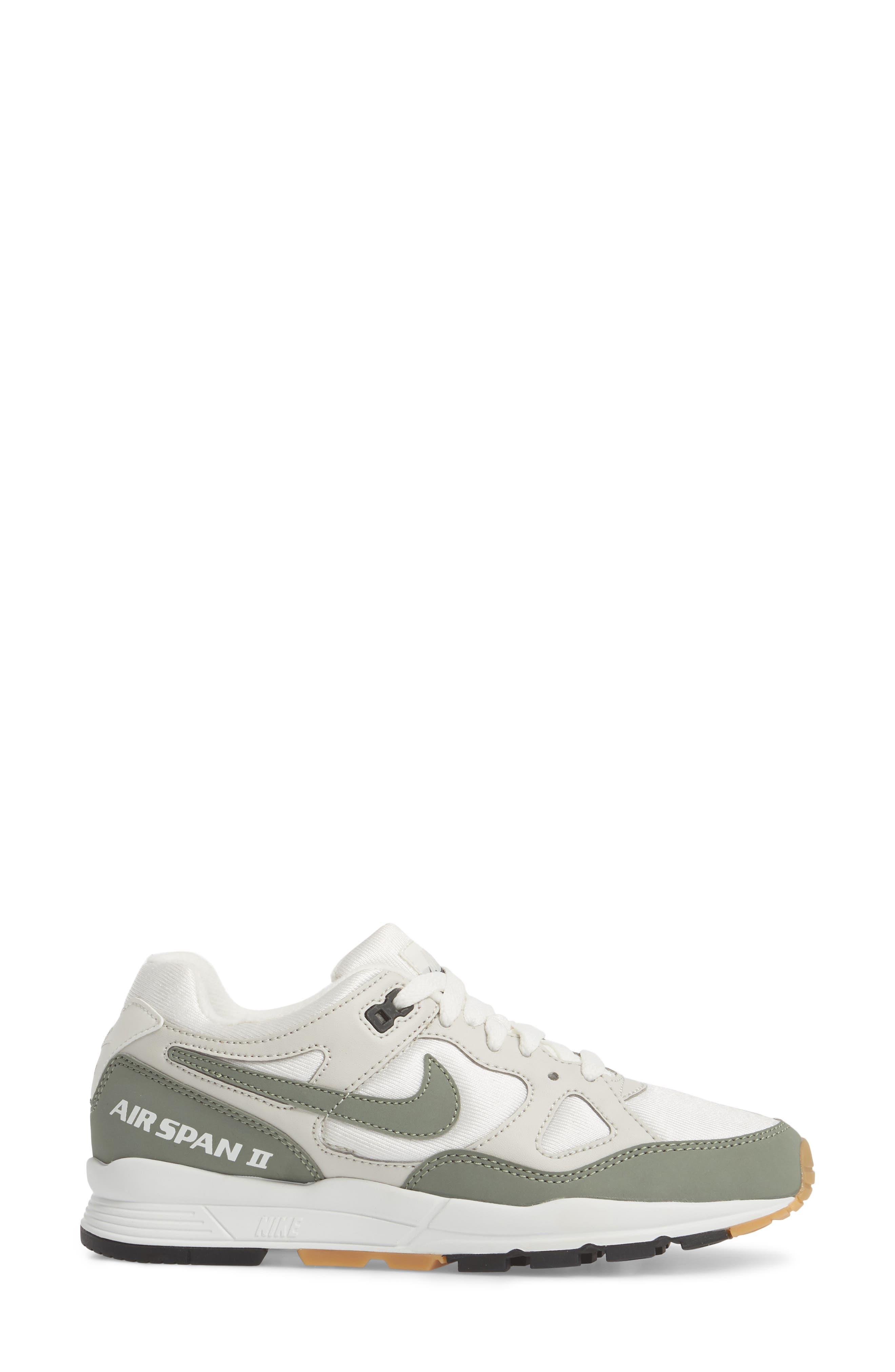 NIKE,                             Air Span II Sneaker,                             Alternate thumbnail 3, color,                             020