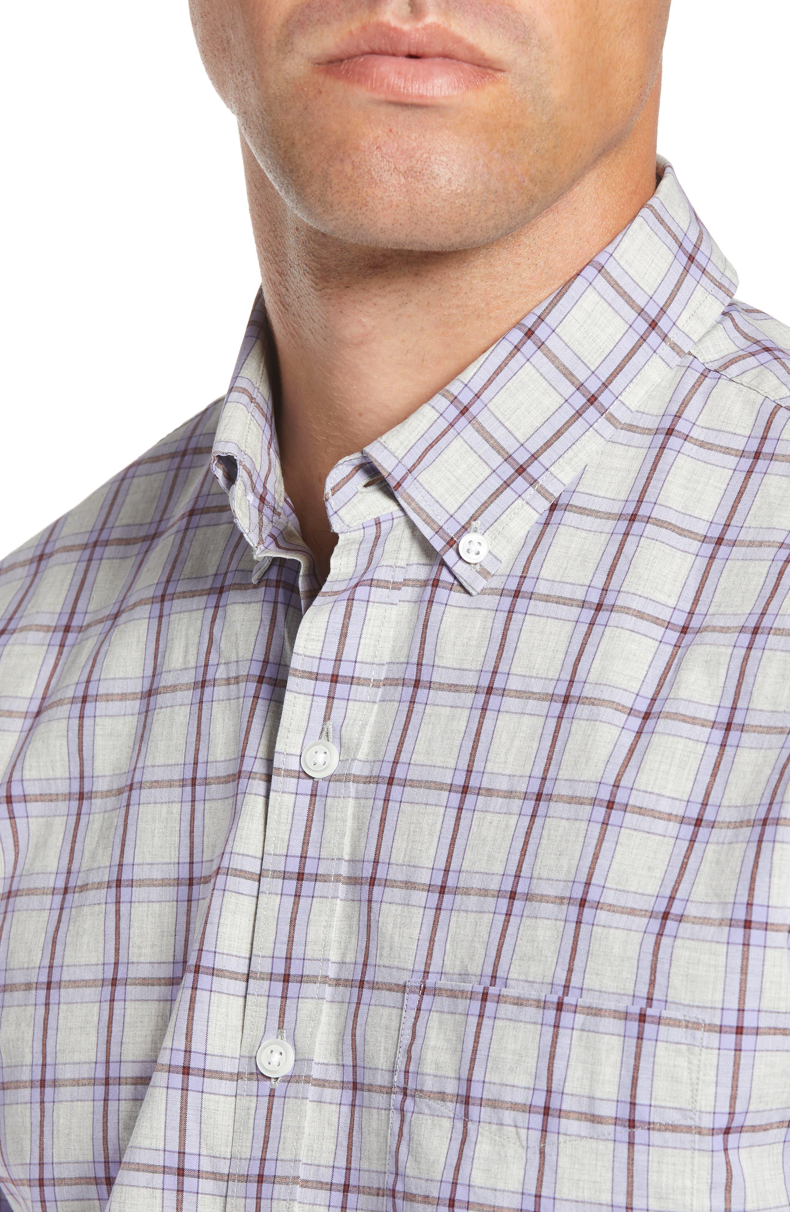 Slim Fit Washed Check Sport Shirt,                             Alternate thumbnail 2, color,                             STONEGATE CHECK - AZULENE