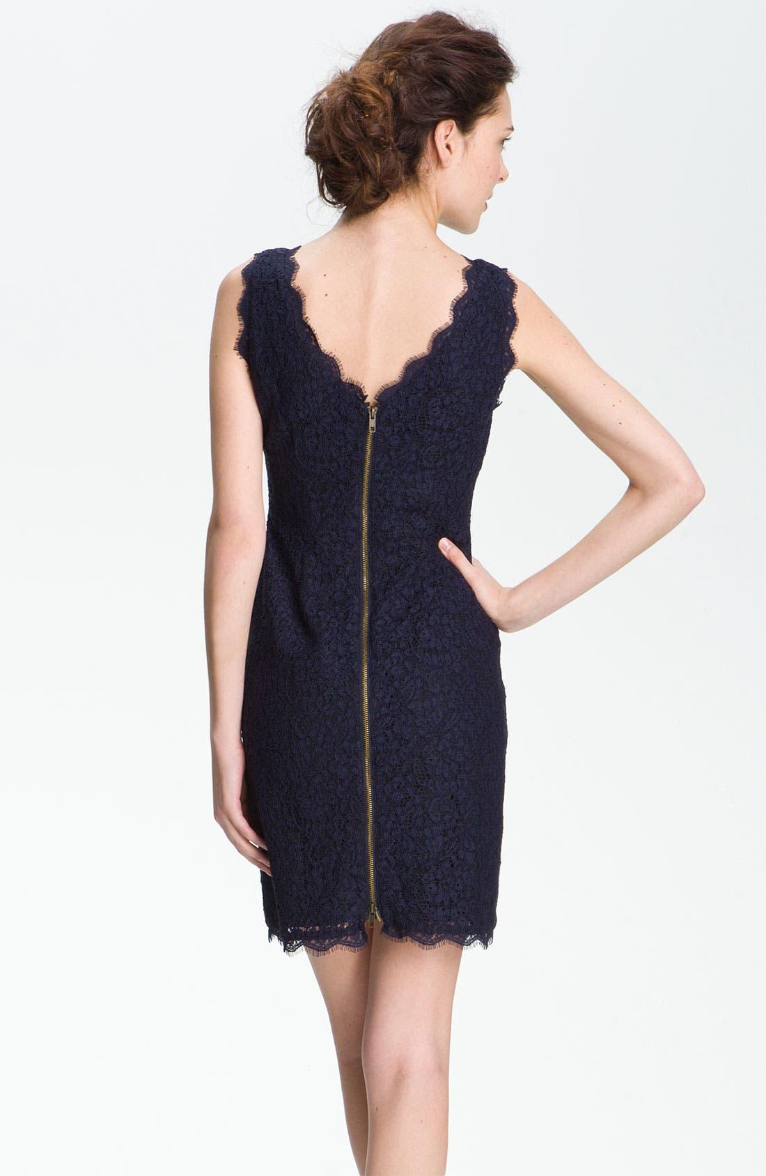 Boatneck Lace Sheath Dress,                             Alternate thumbnail 130, color,