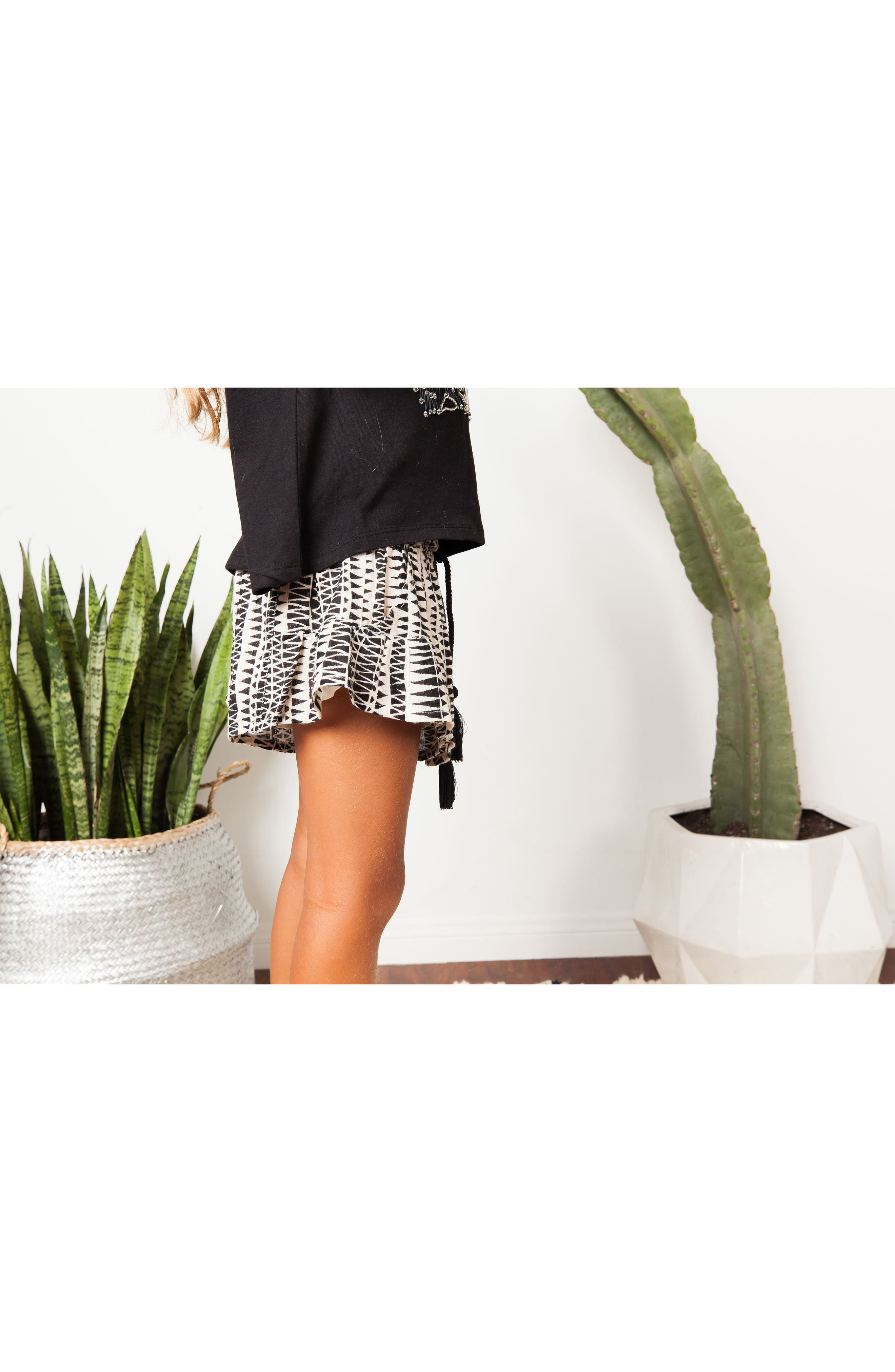 Little Dipper Print Shorts,                             Alternate thumbnail 5, color,                             BLACK