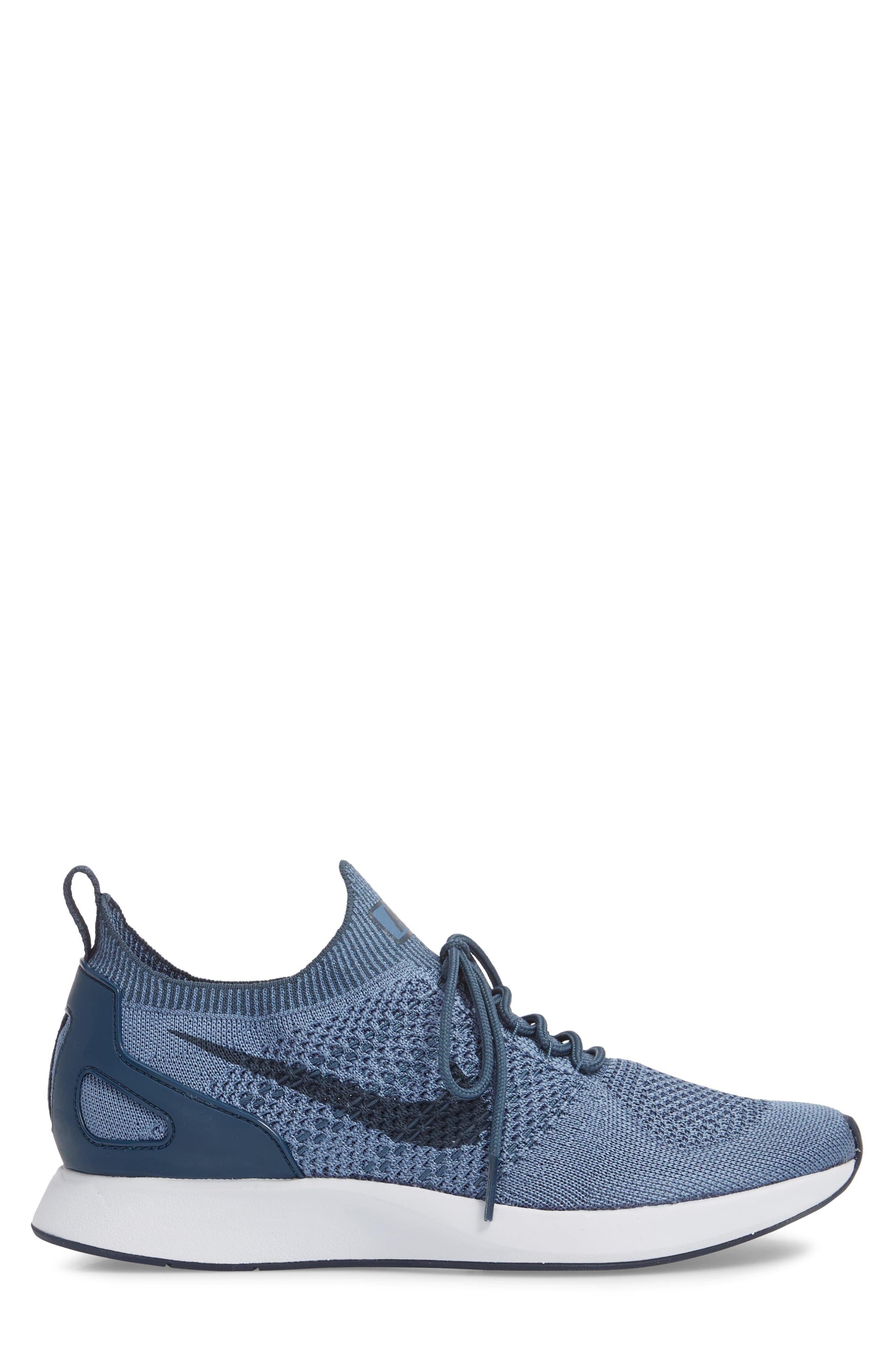 Air Zoom Mariah Flyknit Racer Sneaker,                             Alternate thumbnail 3, color,                             OCEAN FOG/ BLUE/ WHITE