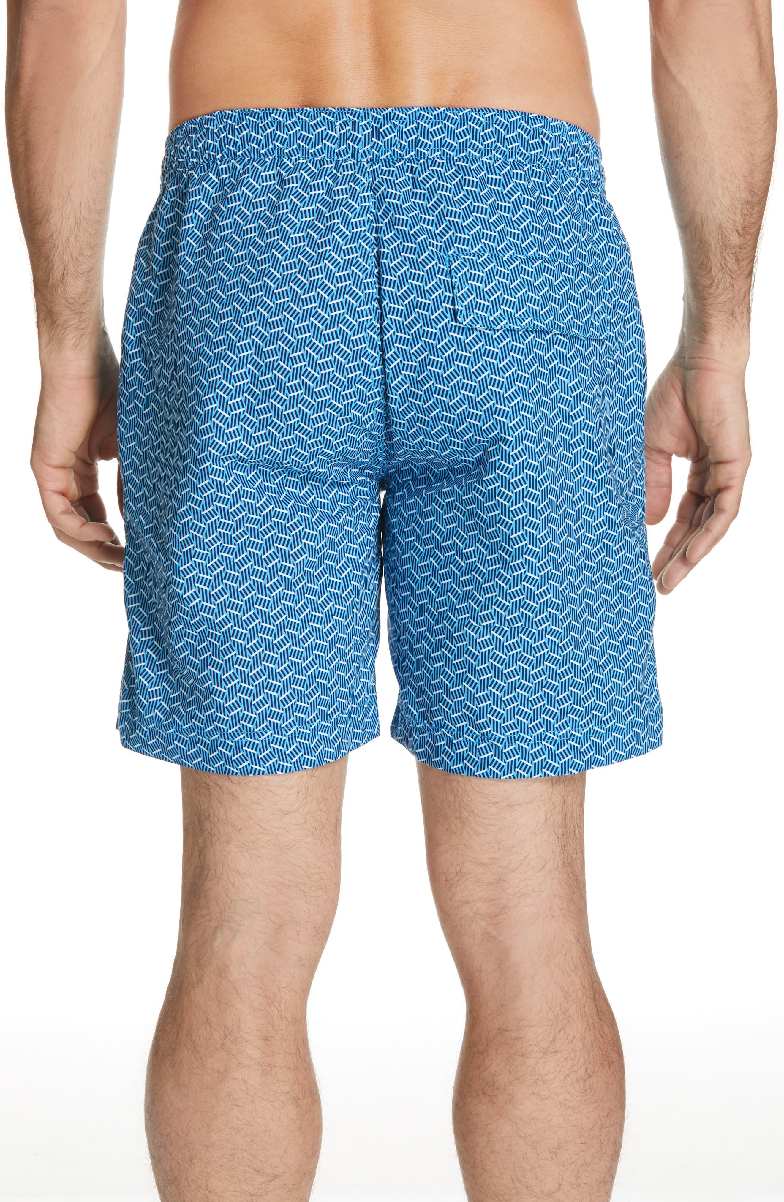 Calder Swim Trunks,                             Alternate thumbnail 2, color,                             POOL BLUE