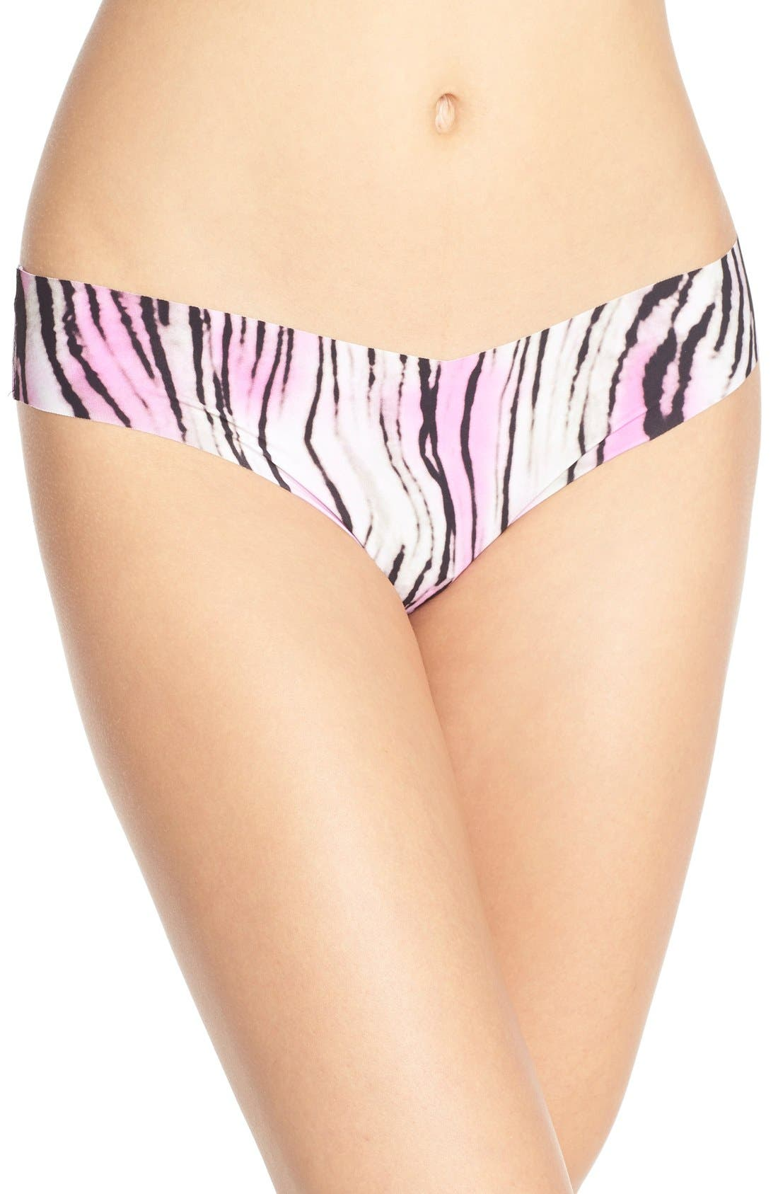 Print Microfiber Thong,                             Main thumbnail 89, color,