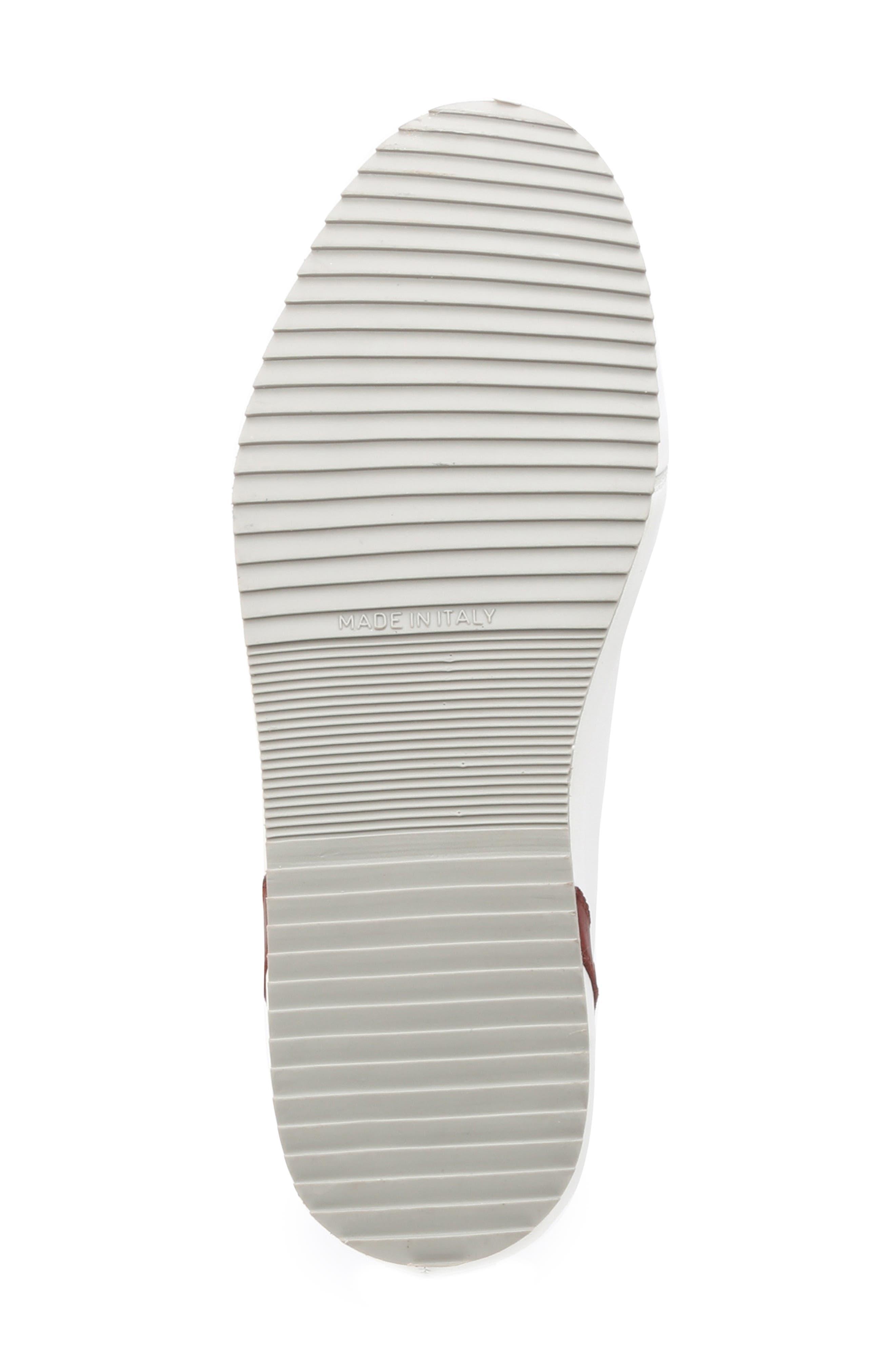 Santana Sneaker,                             Alternate thumbnail 6, color,                             WHITE/ BORDEAUX
