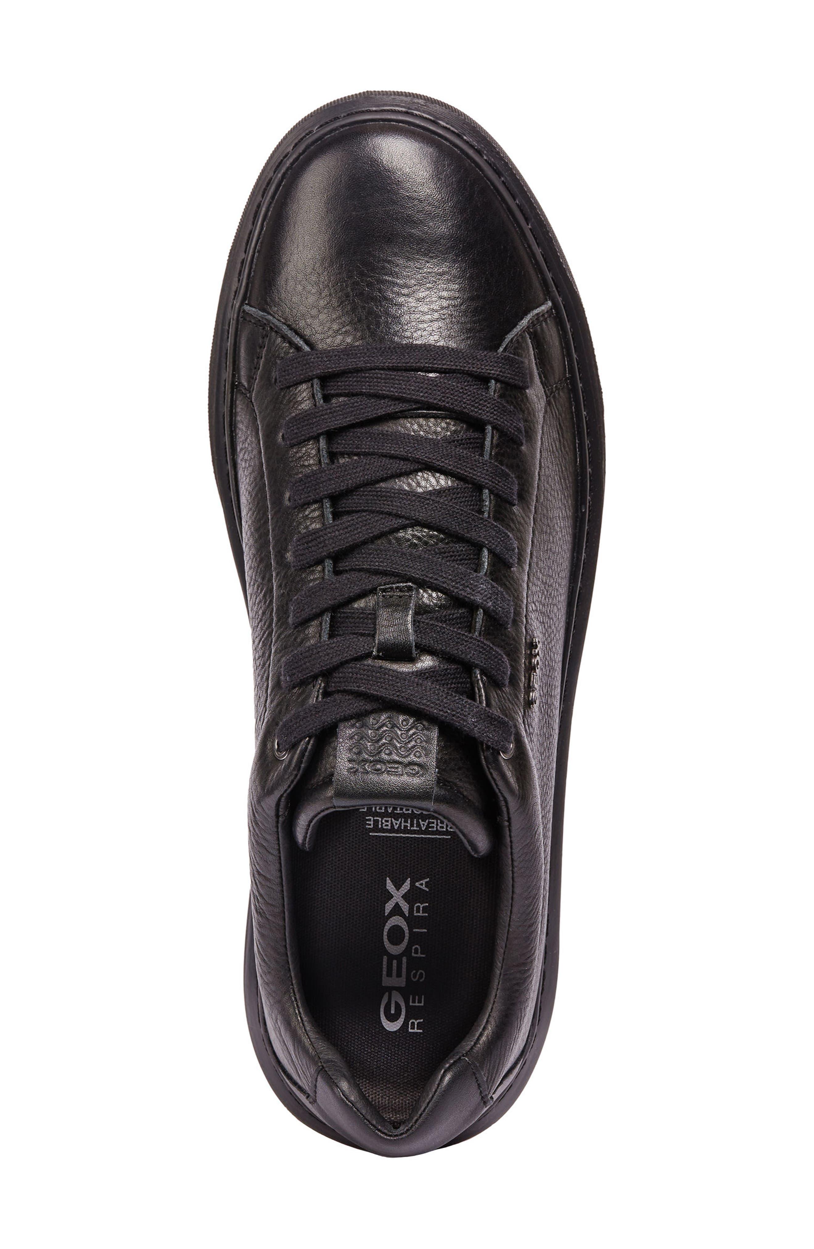 Deiven 4 Low Top Sneaker,                             Alternate thumbnail 5, color,                             BLACK LEATHER