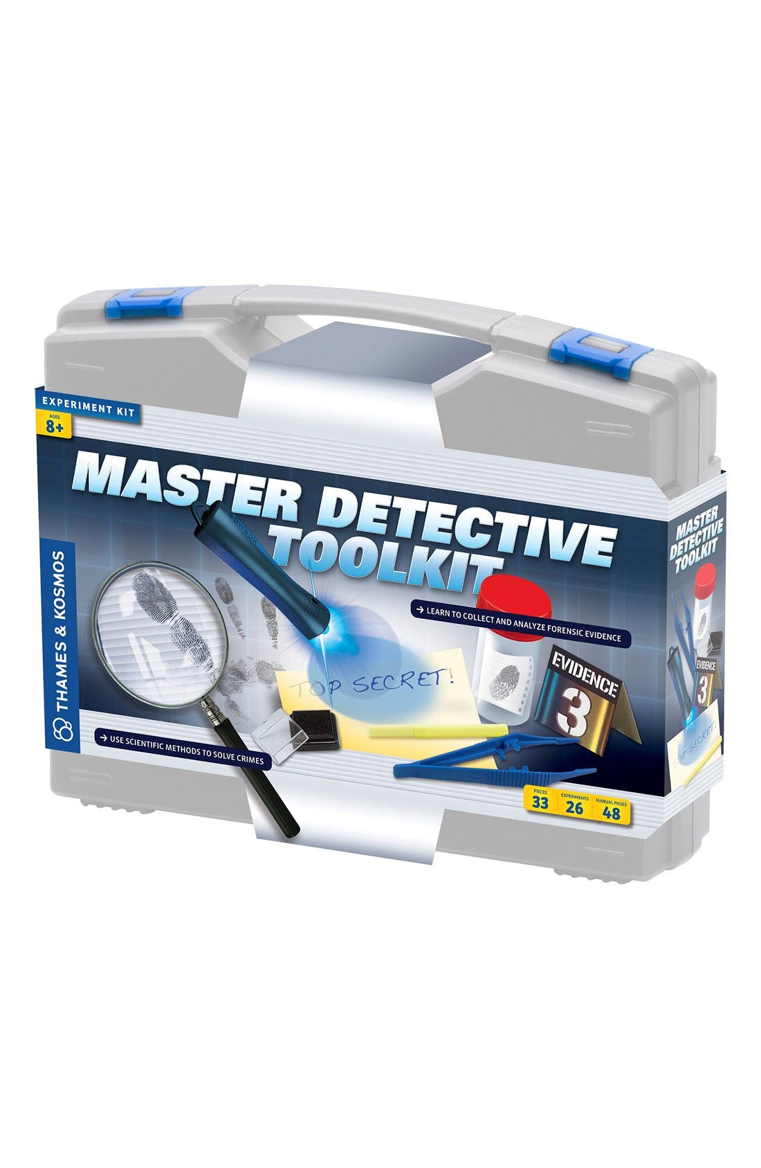 'Master Detective Toolkit' Experiment Kit,                             Main thumbnail 1, color,                             GREY